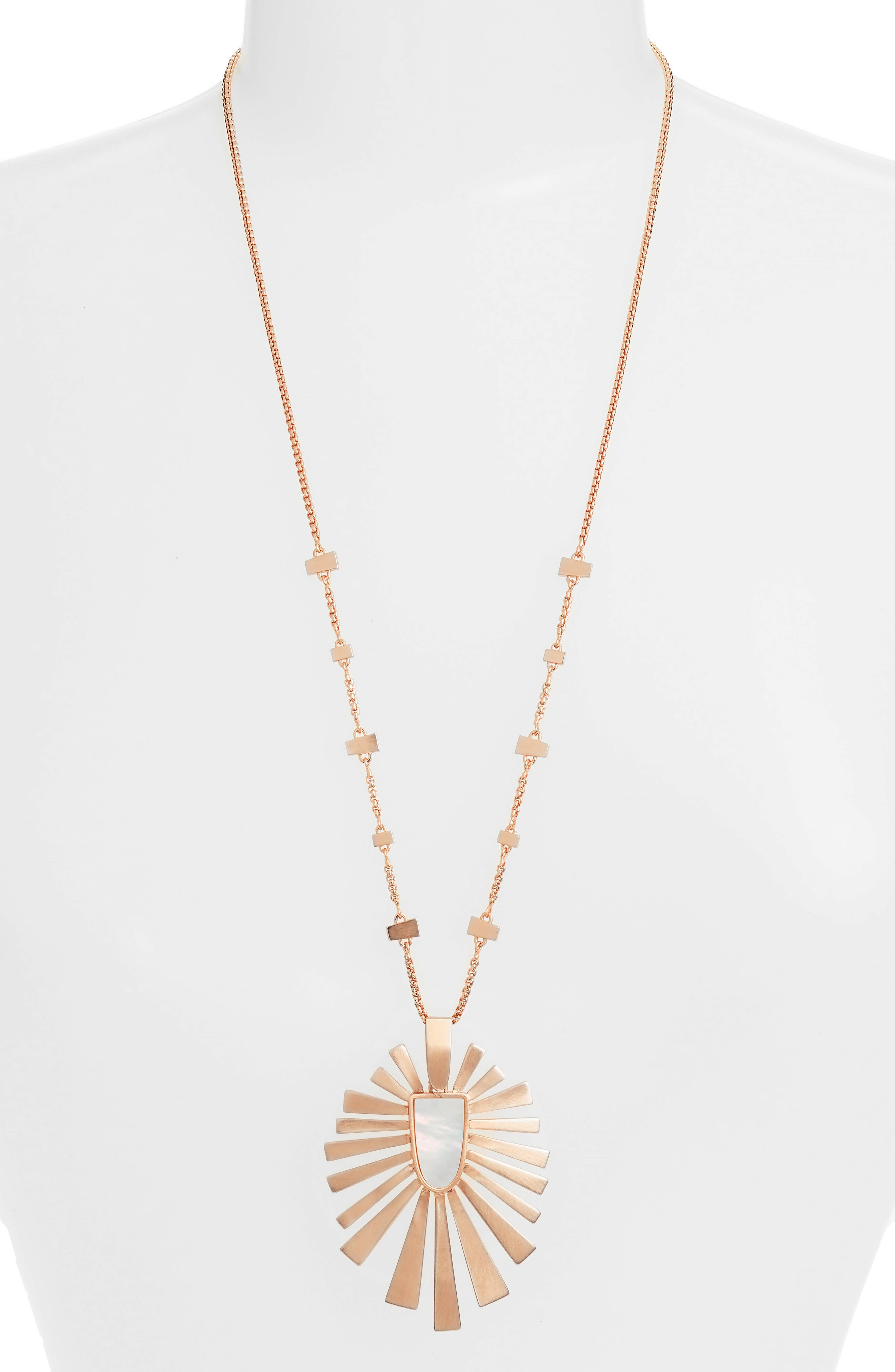 Paula Necklace,                         Main,                         color, Ivory/ Rose Gold