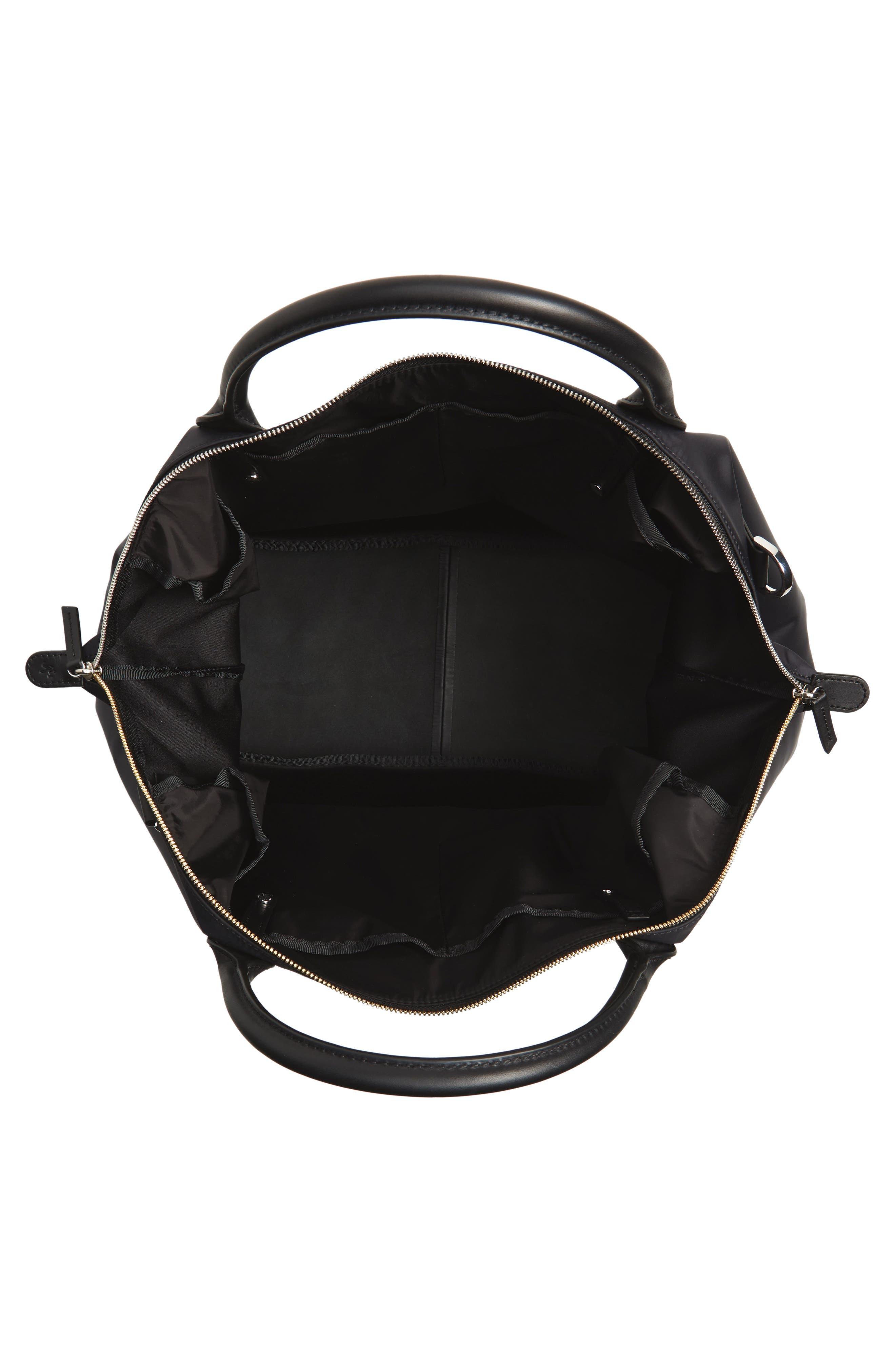Hartsfield Nylon Tote Bag,                             Alternate thumbnail 4, color,                             Black Nylon