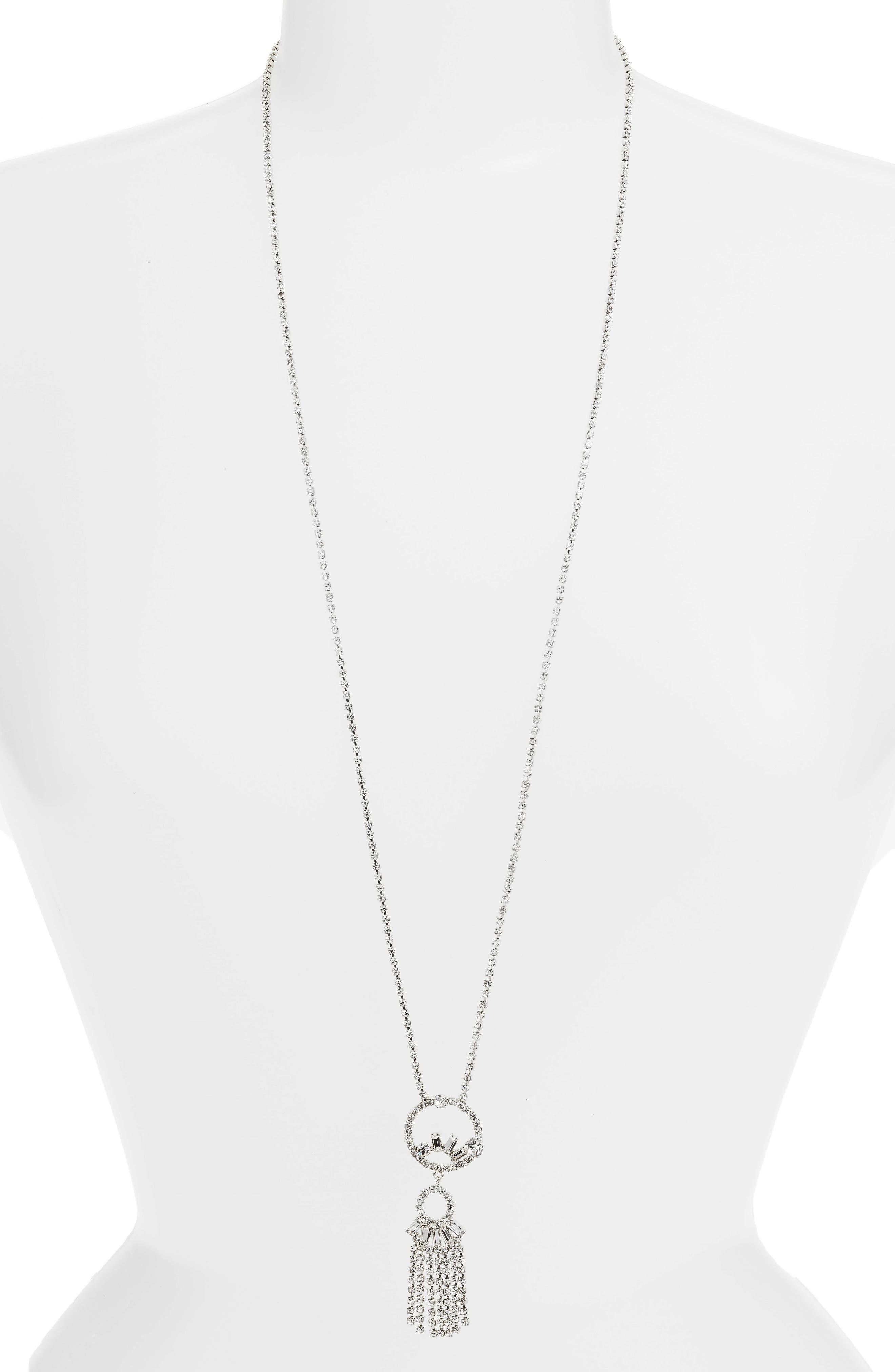 CRISTABELLE Crystal Fringe Pendant Necklace