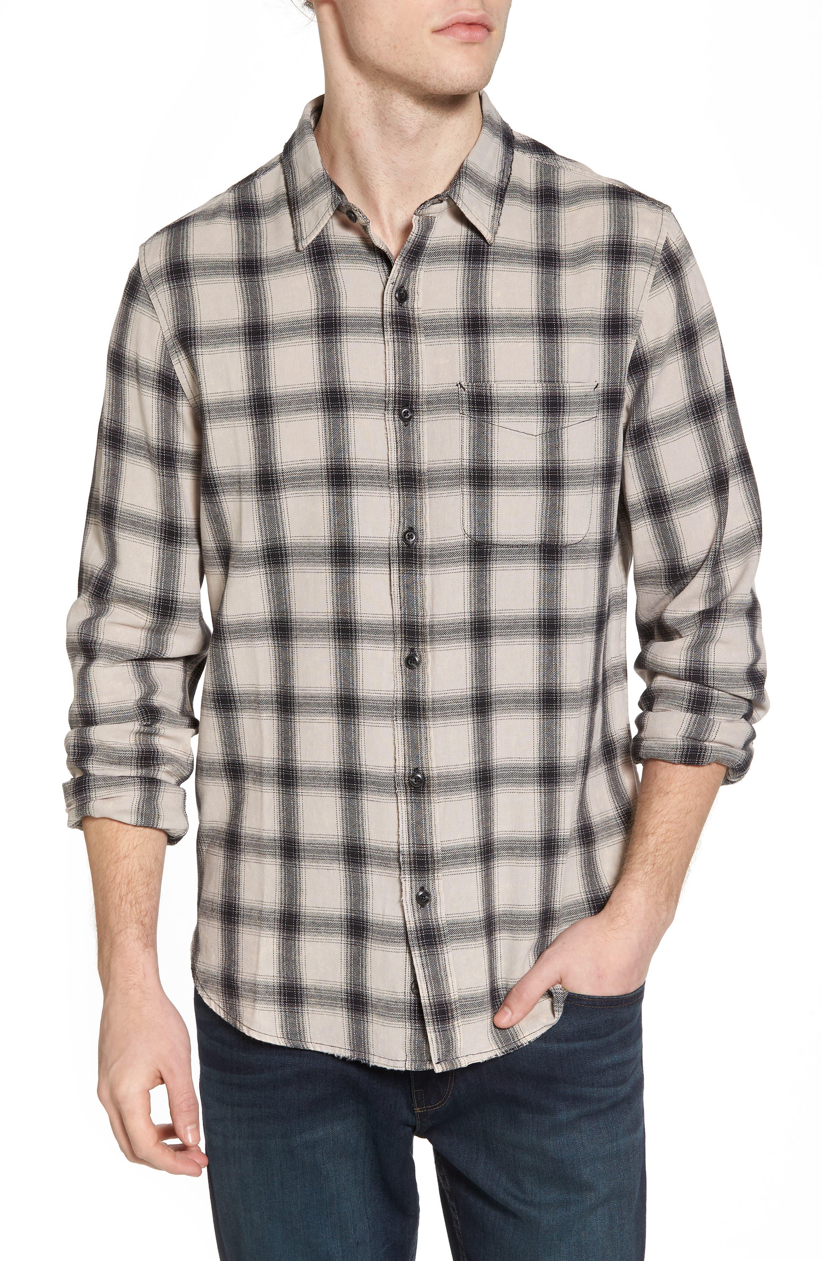 Colton Slim Fit Plaid Sport Shirt,                         Main,                         color, 15 Years Mineral Veil/ Black