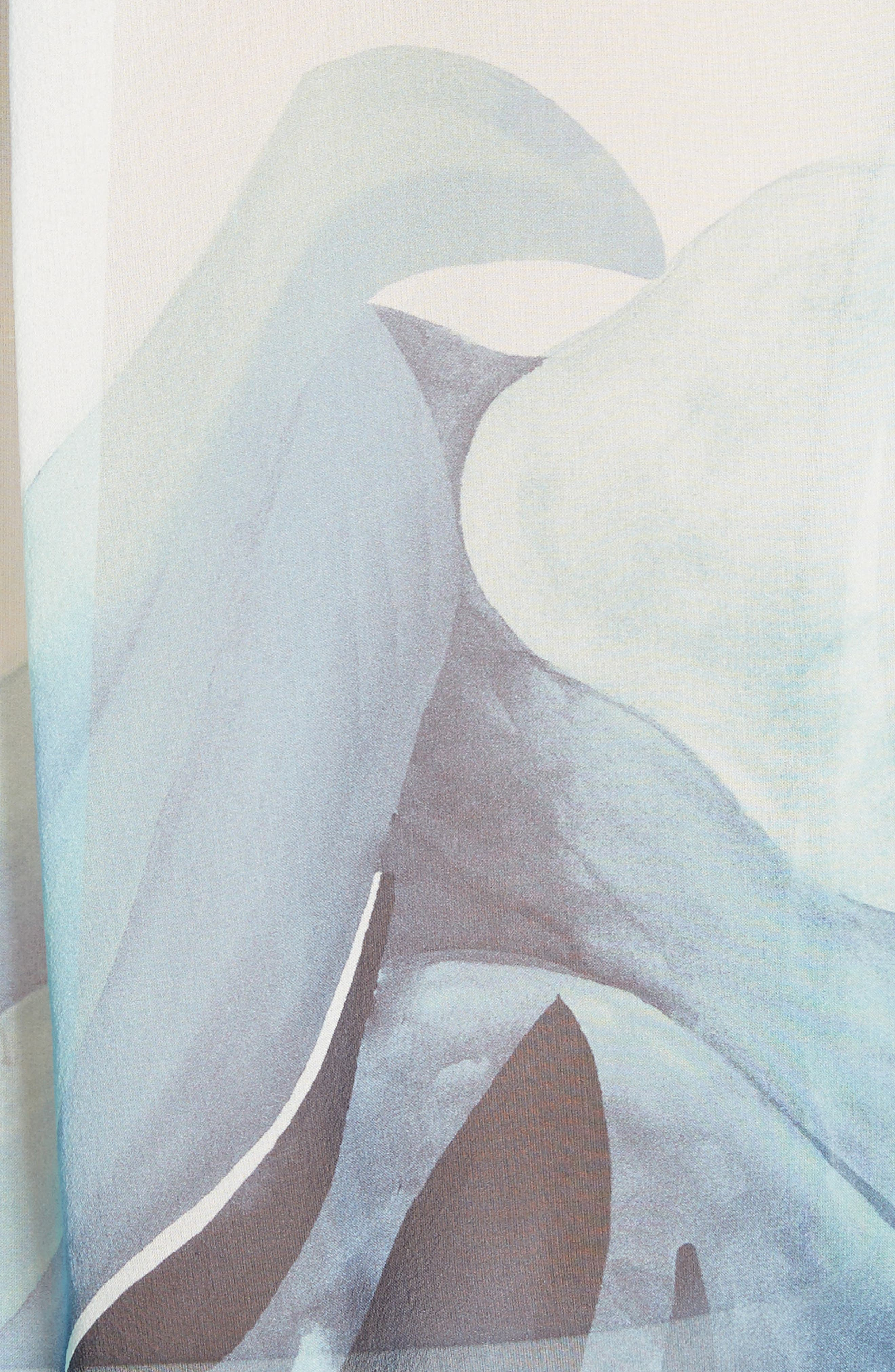 Graydon Print Silk Chiffon Blouse,                             Alternate thumbnail 6, color,                             Herbal Mist Multi