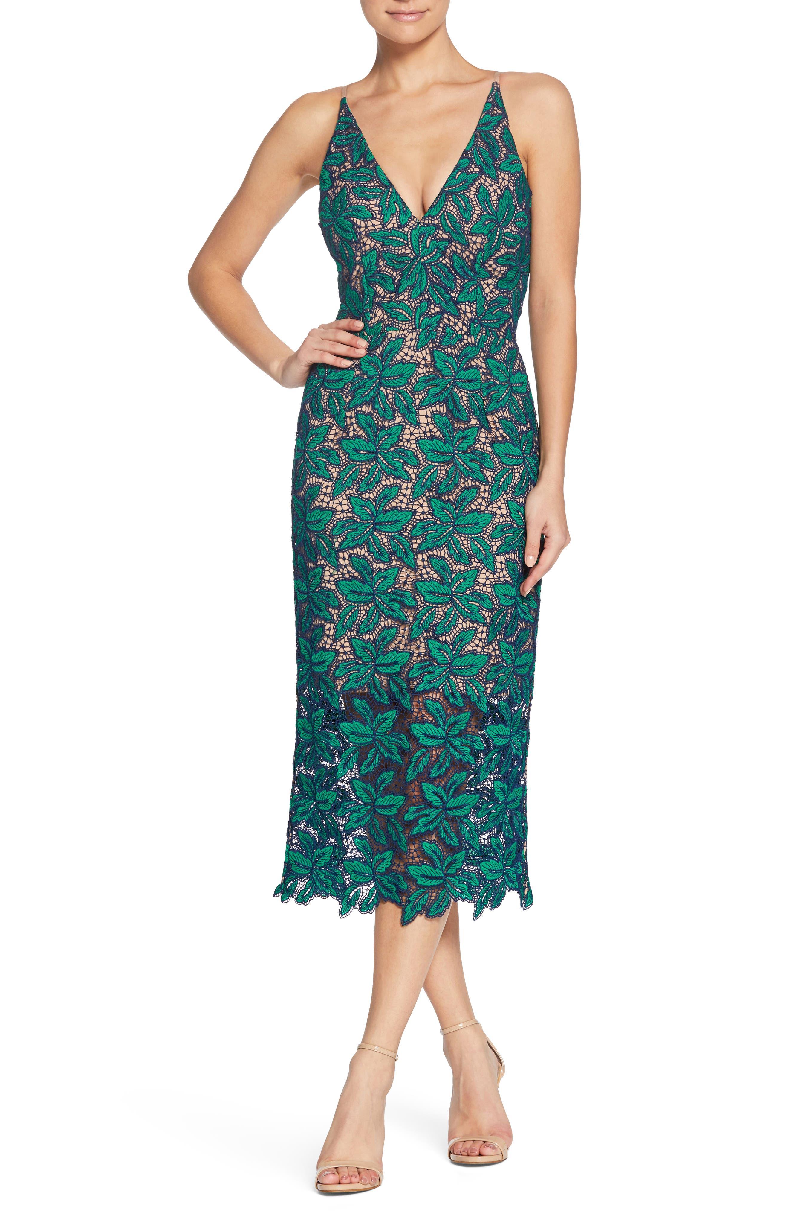 Aurora Lace Sheath Dress,                         Main,                         color, Kelli/ Navy