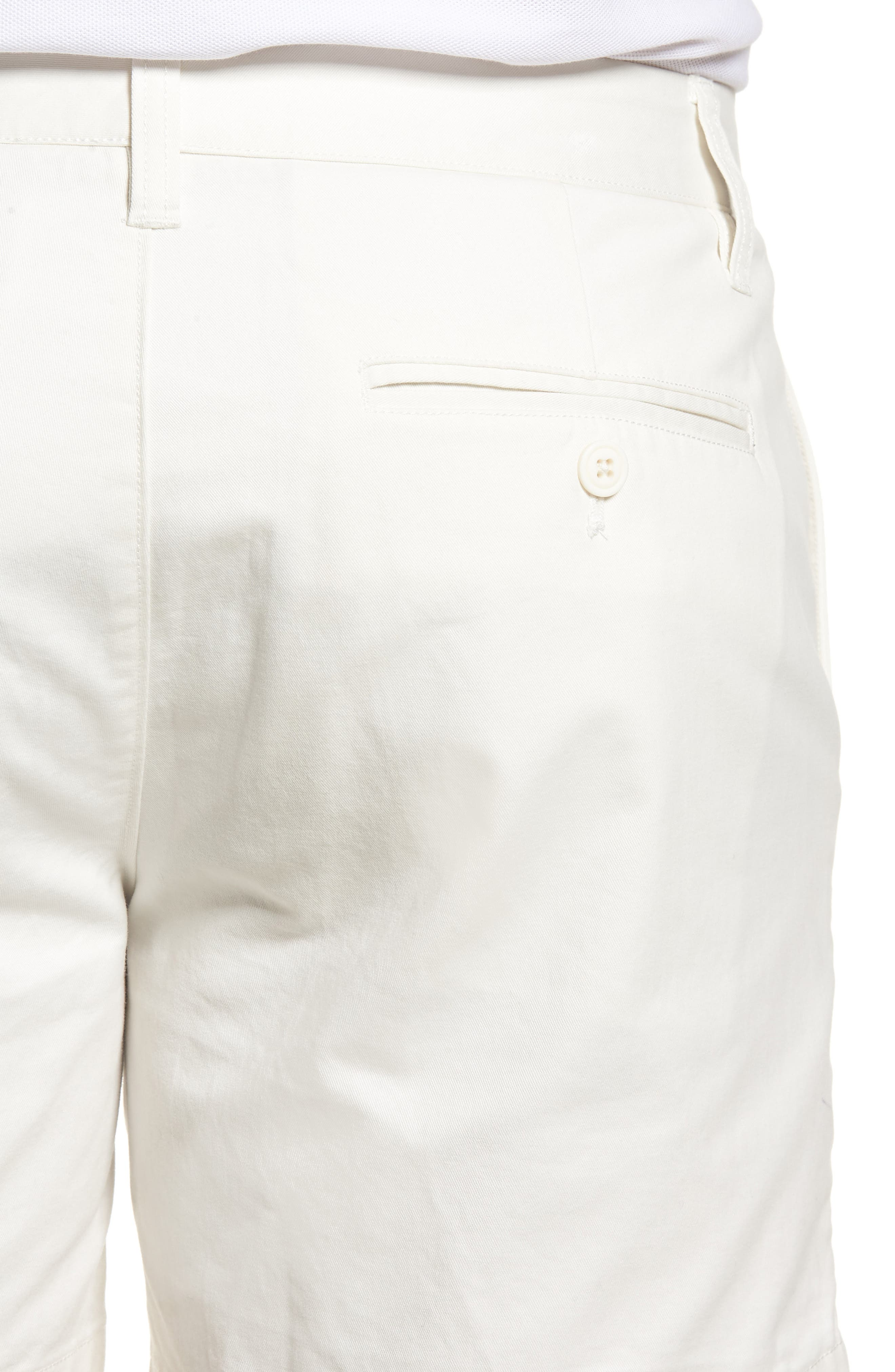 Stretch Washed Chino 5-Inch Shorts,                             Alternate thumbnail 4, color,                             Full Sail Off White