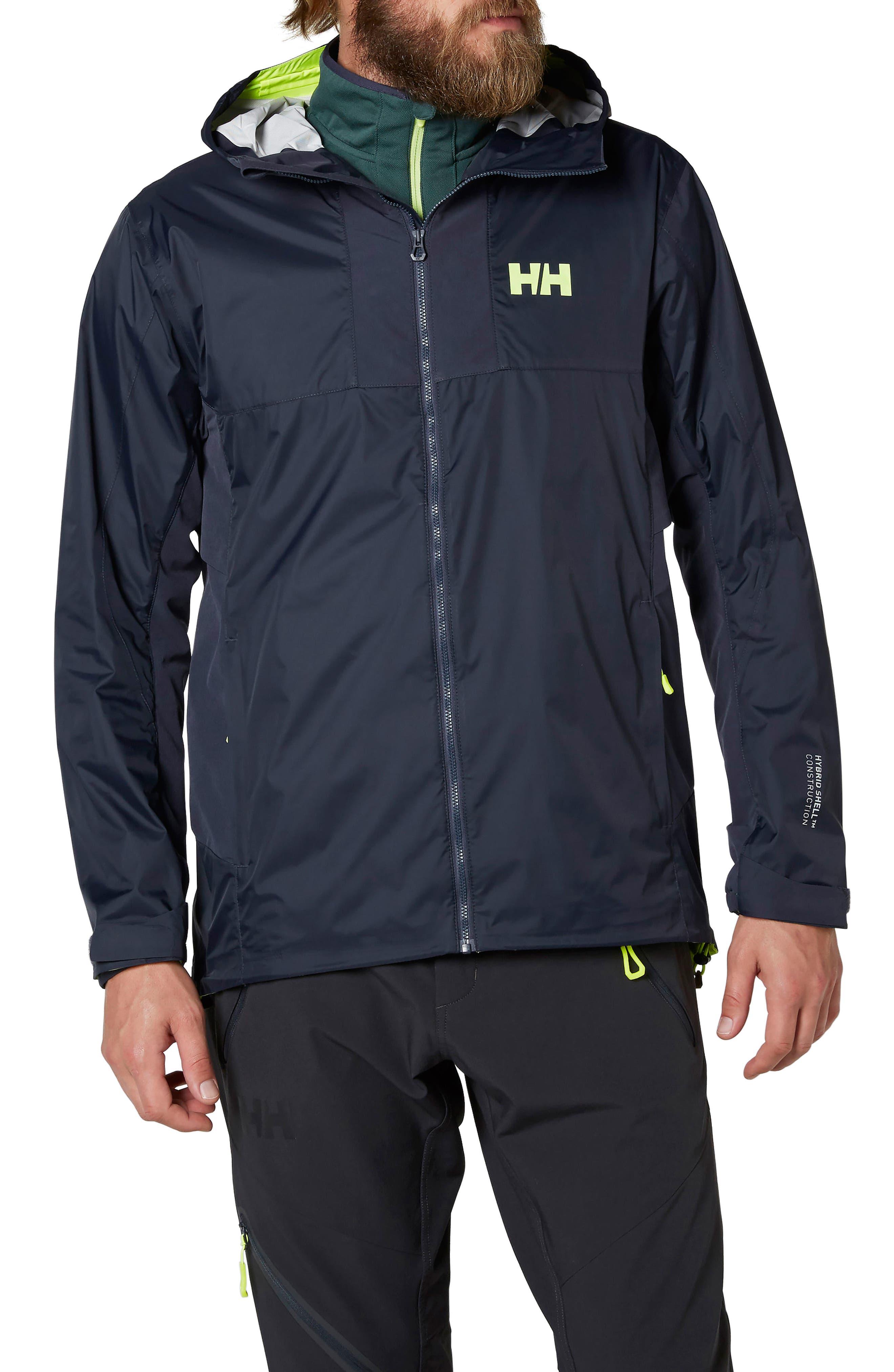 Vanir Logr Regular Fit Waterproof Jacket,                         Main,                         color, Graphite Blue