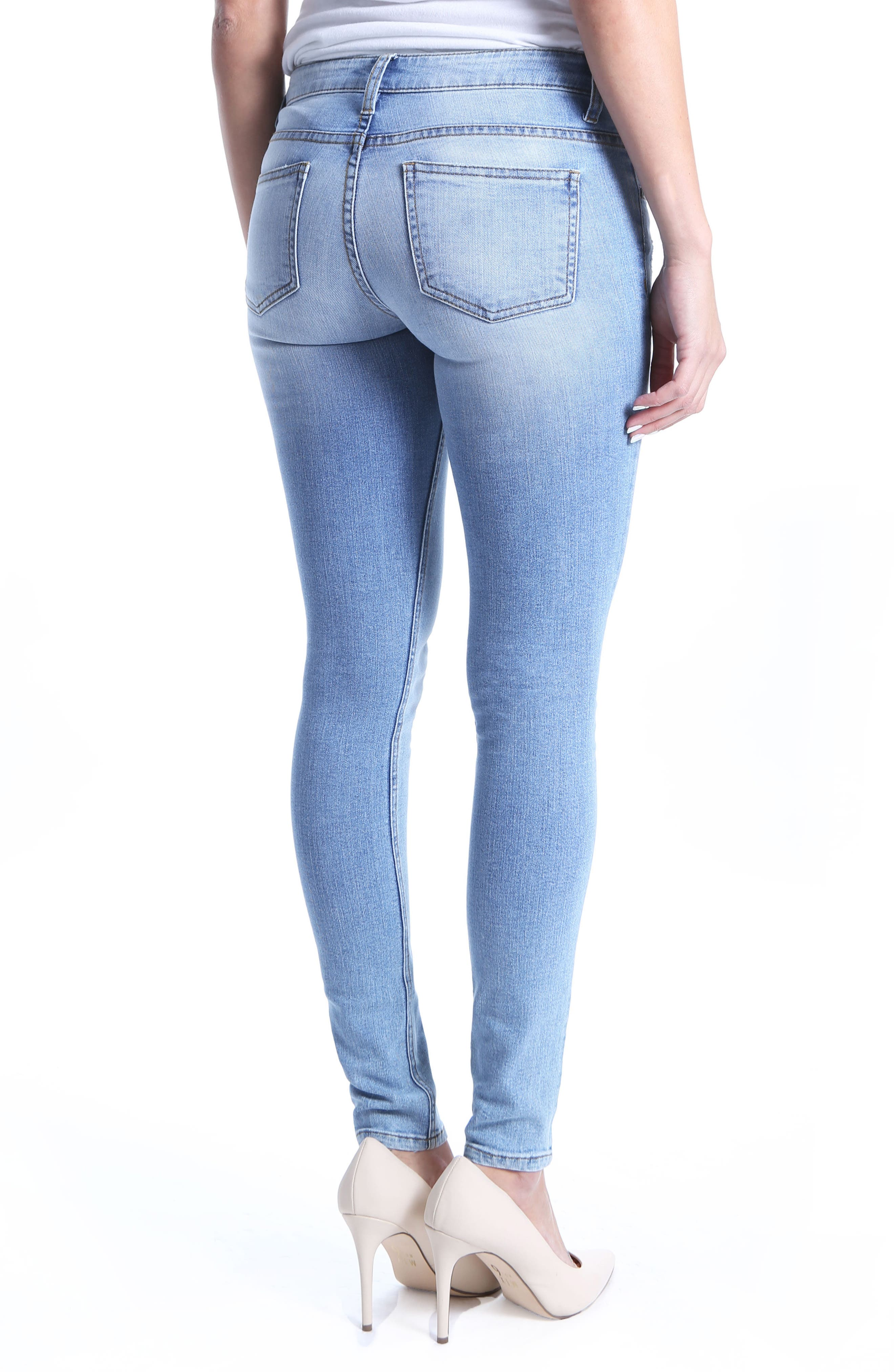 Mia Toothpick Skinny Distressed Jeans,                             Alternate thumbnail 2, color,                             Confirmed