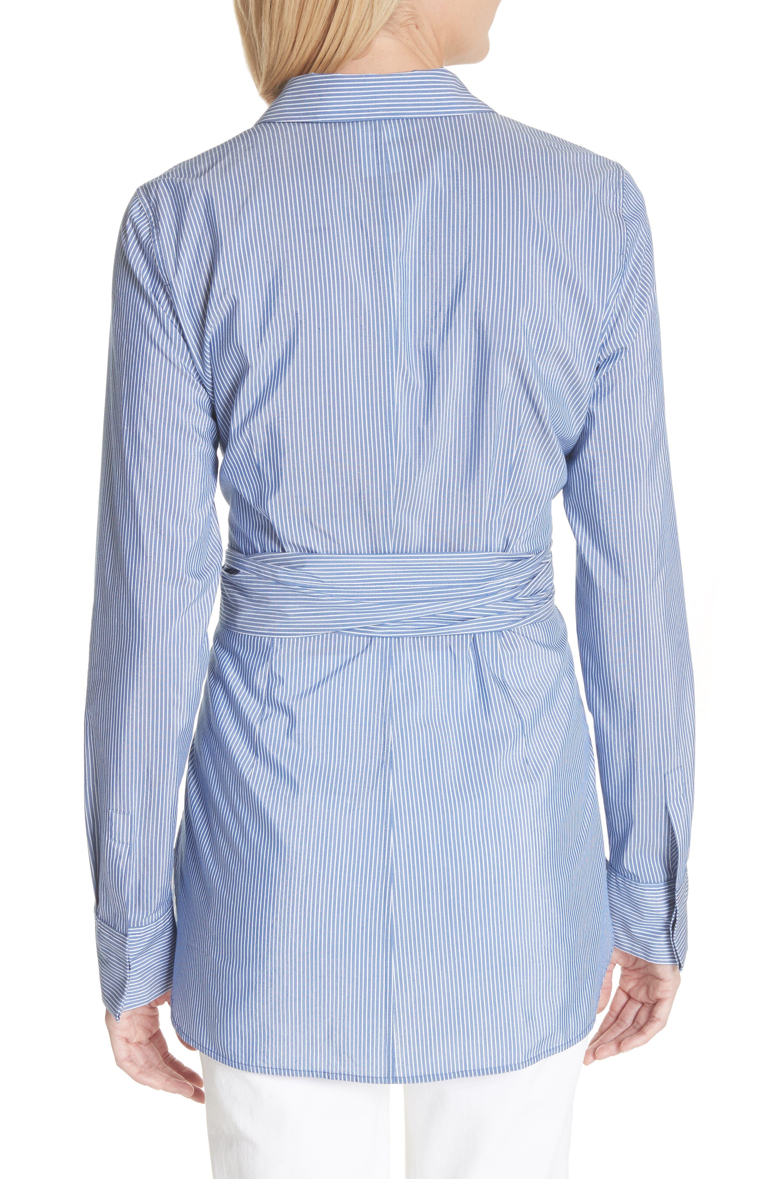 Cordelia Tie Waist Blouse,                             Alternate thumbnail 2, color,                             Delft Multi