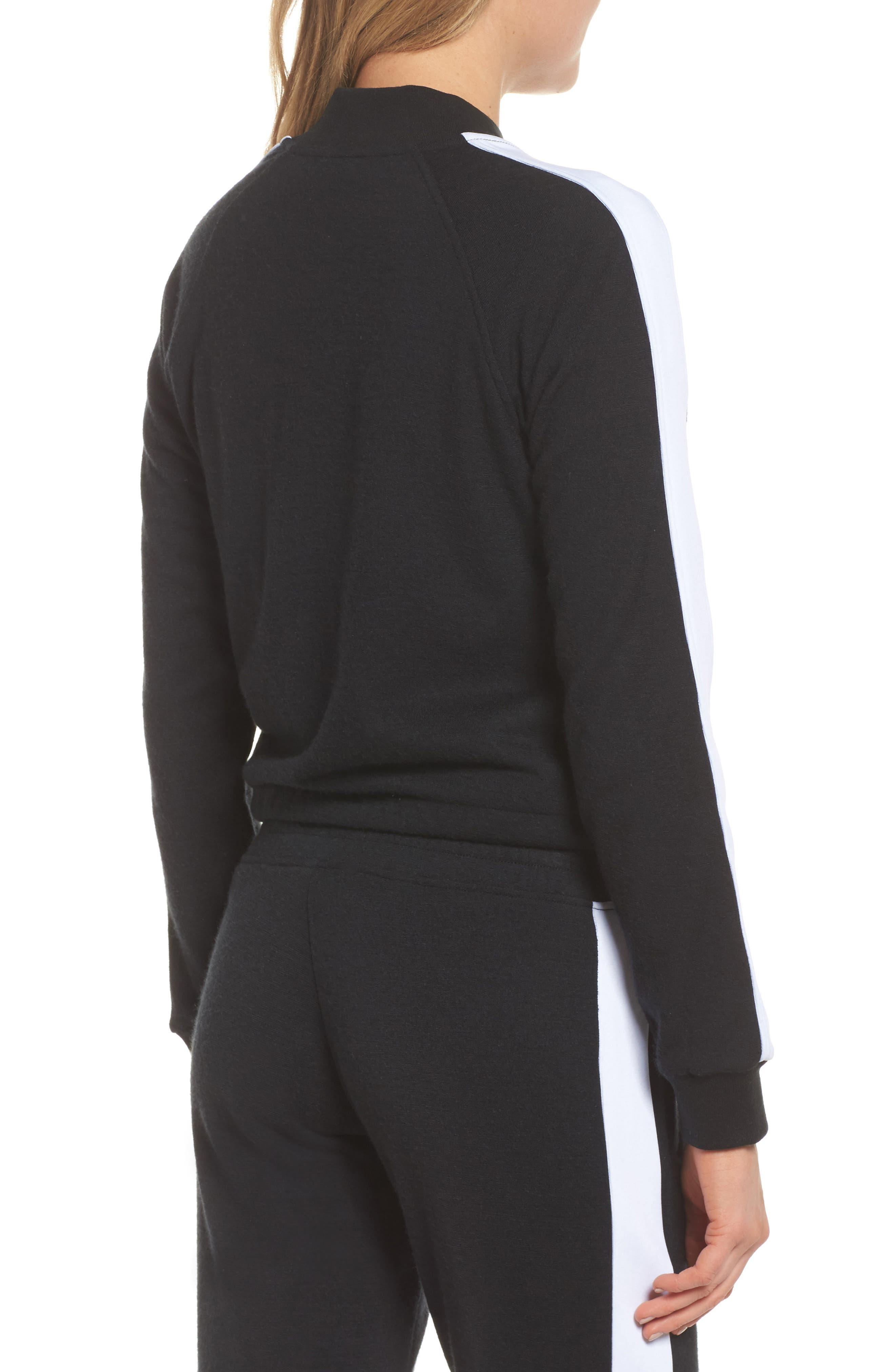 Lizy Track Jacket,                             Alternate thumbnail 2, color,                             Black