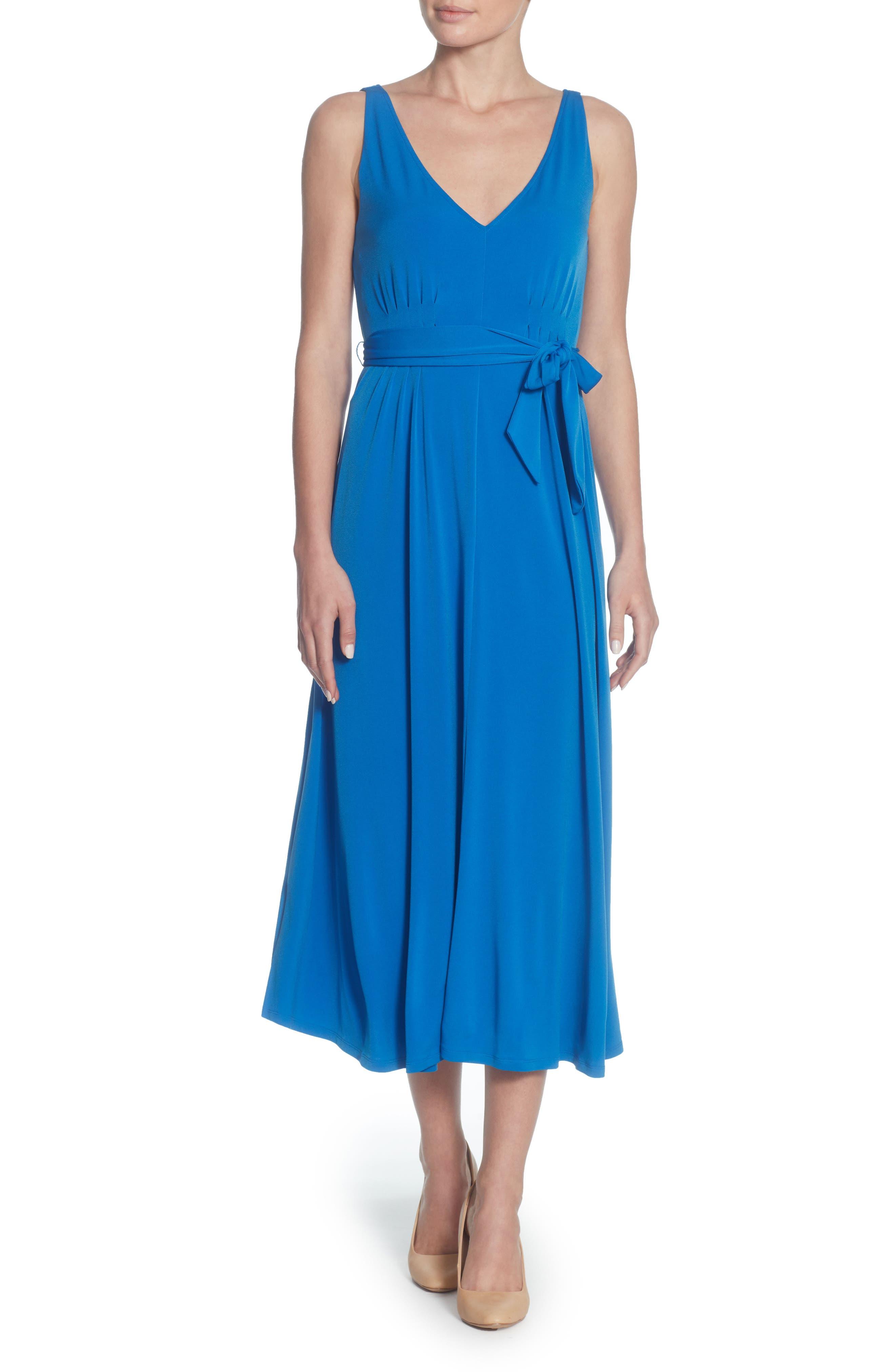 Lindy Midi Dress,                             Main thumbnail 1, color,                             Victoria Blue