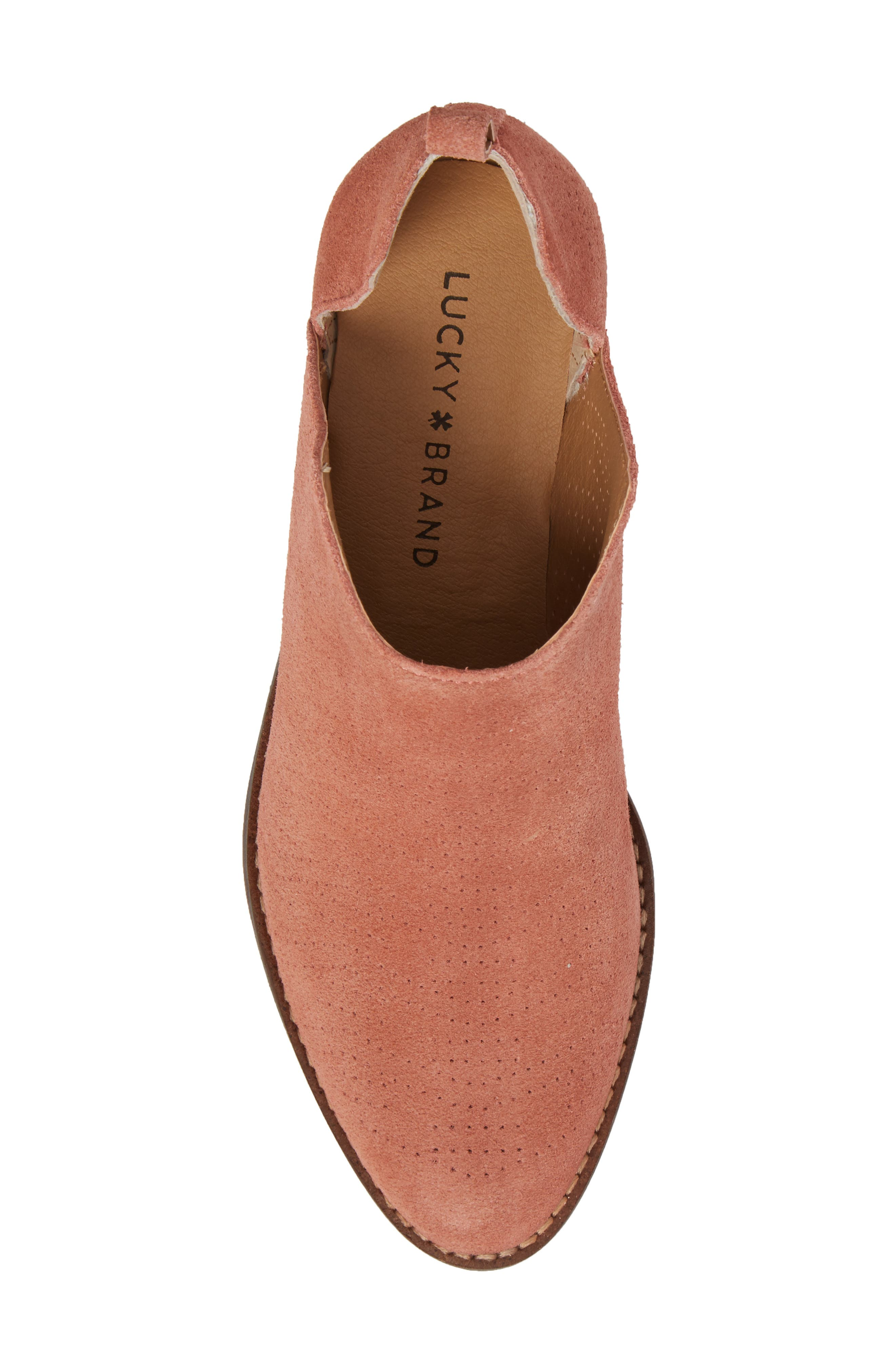 Fayth Bootie,                             Alternate thumbnail 5, color,                             Canyon Rose Suede