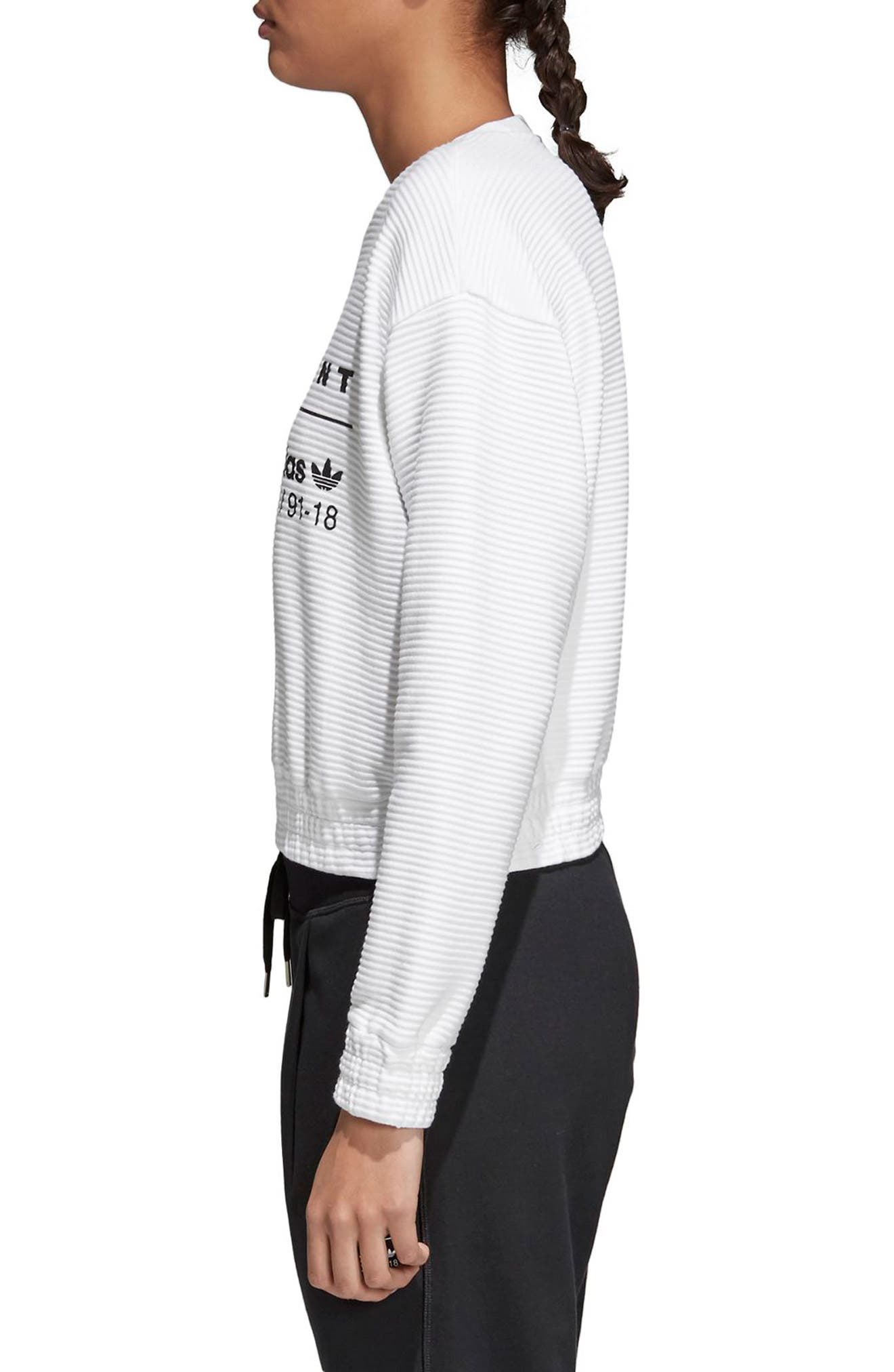 EQT Sweatshirt,                             Alternate thumbnail 3, color,                             White