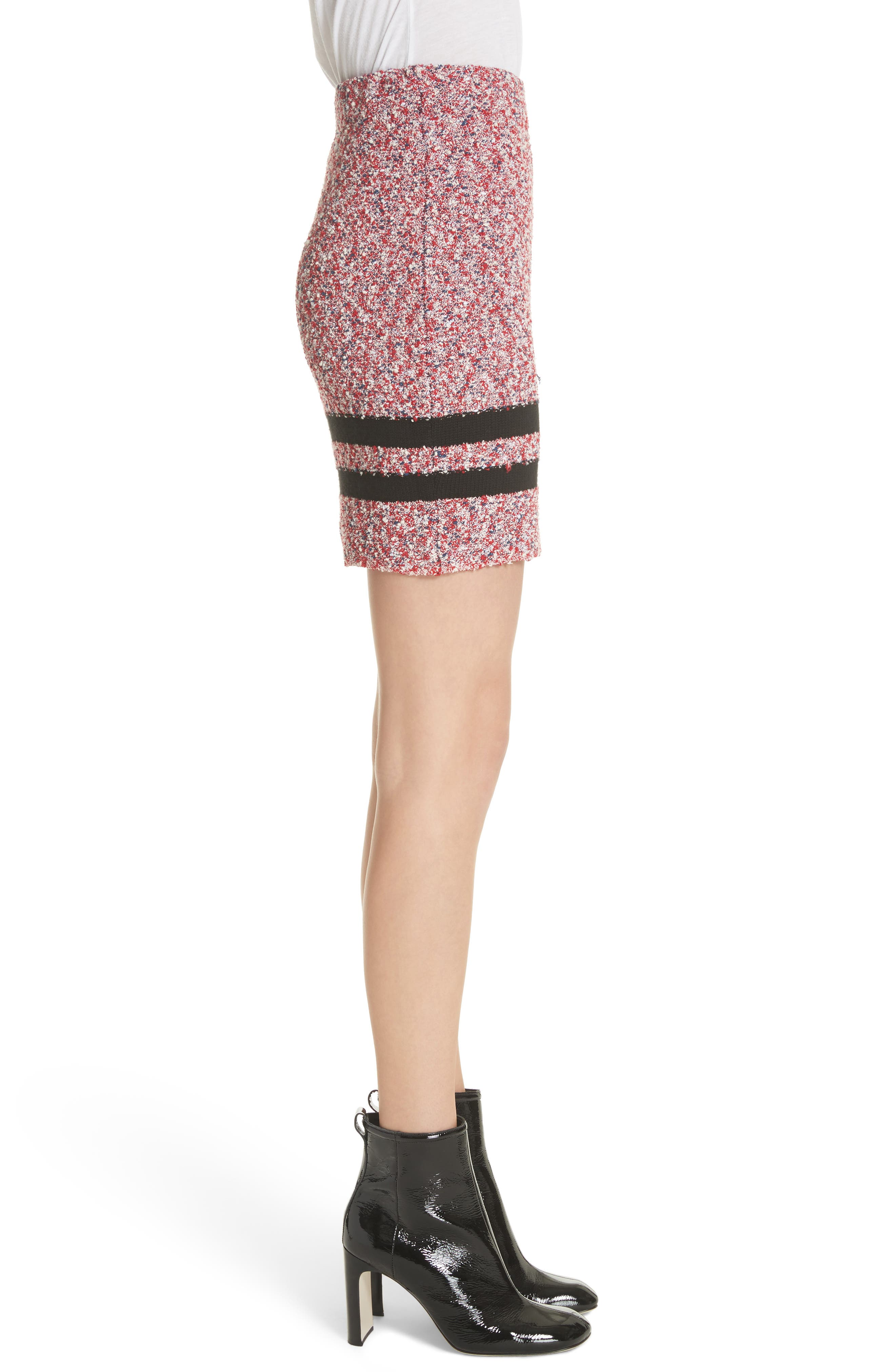 Halstead Tweed Skirt,                             Alternate thumbnail 3, color,                             Red