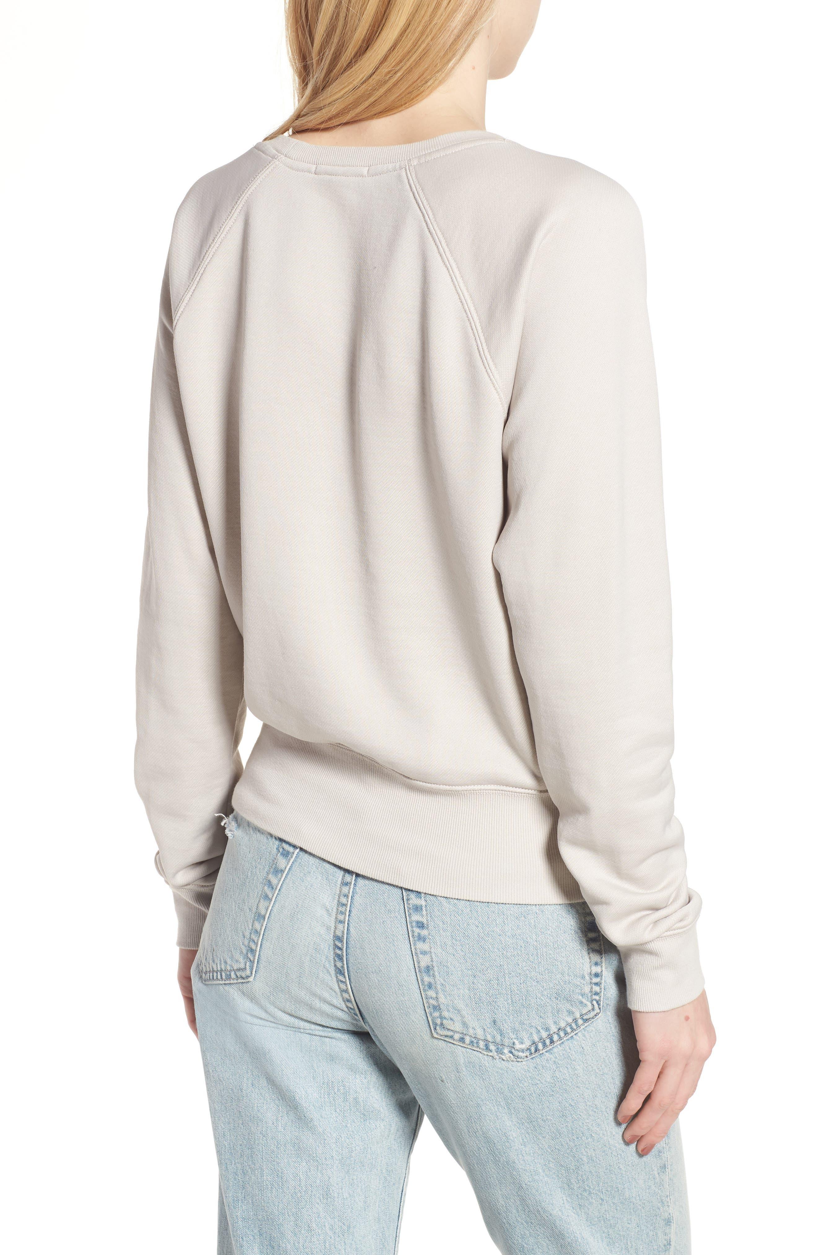 Alternate Image 2  - James Perse Shrunken Fleece Sweatshirt