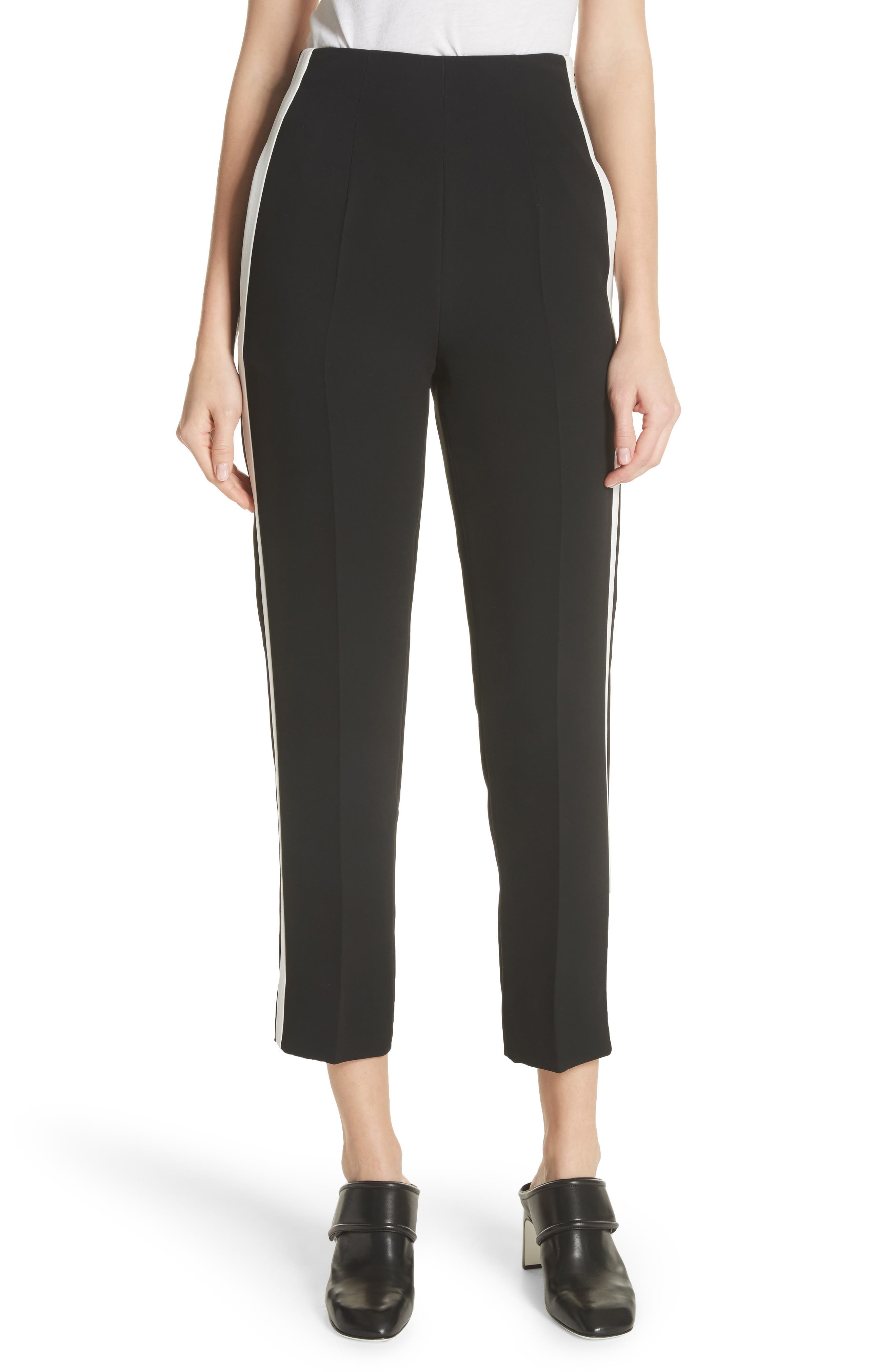 Elliot Side Stripe Pants,                             Main thumbnail 1, color,                             Black