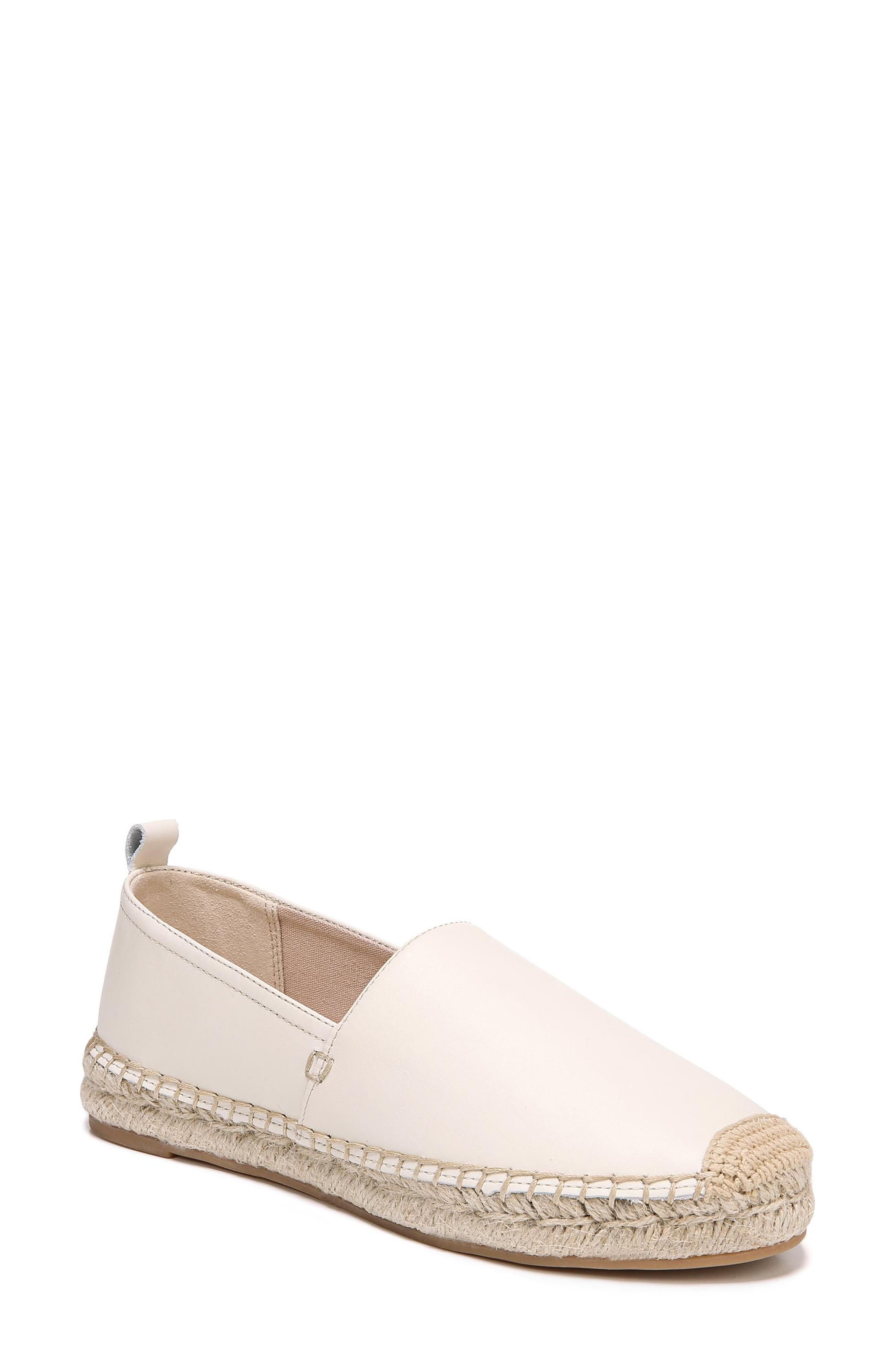 Khloe Espadrille Flat,                         Main,                         color, Modern Ivory Leather