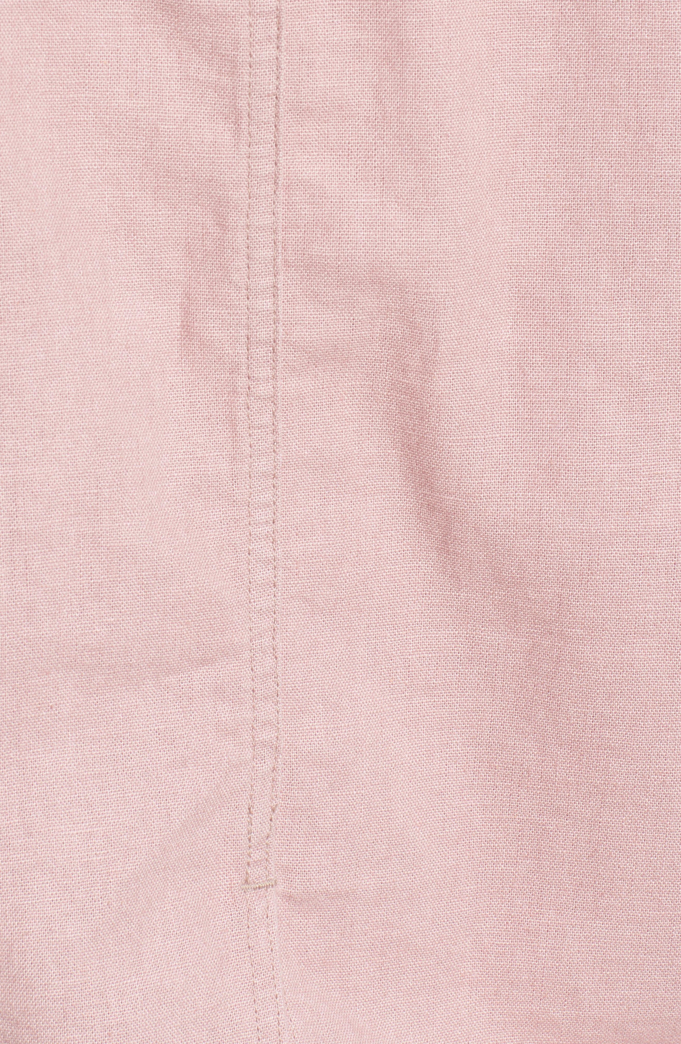 Tie Sleeve Linen & Cotton Jacket,                             Alternate thumbnail 5, color,                             Pink Adobe