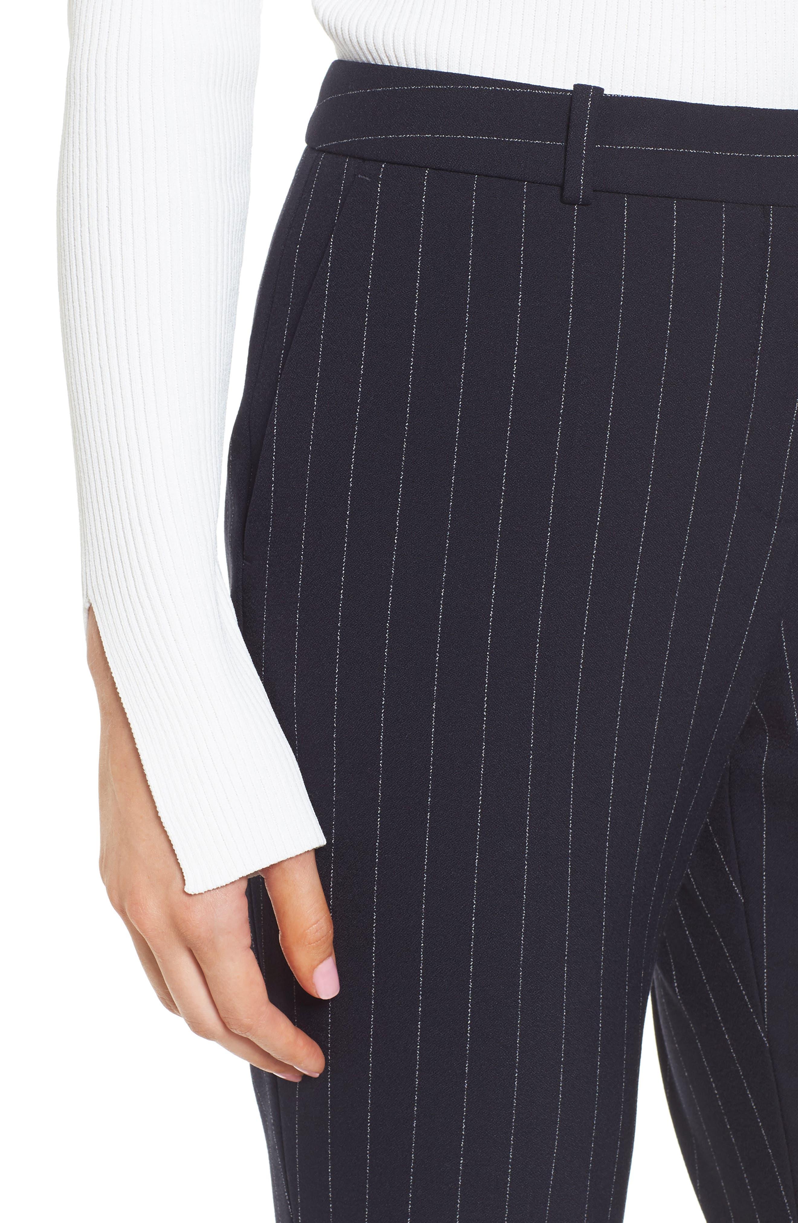 Titana Pinstripe Suit Trousers,                             Alternate thumbnail 6, color,                             Navy Fantasy