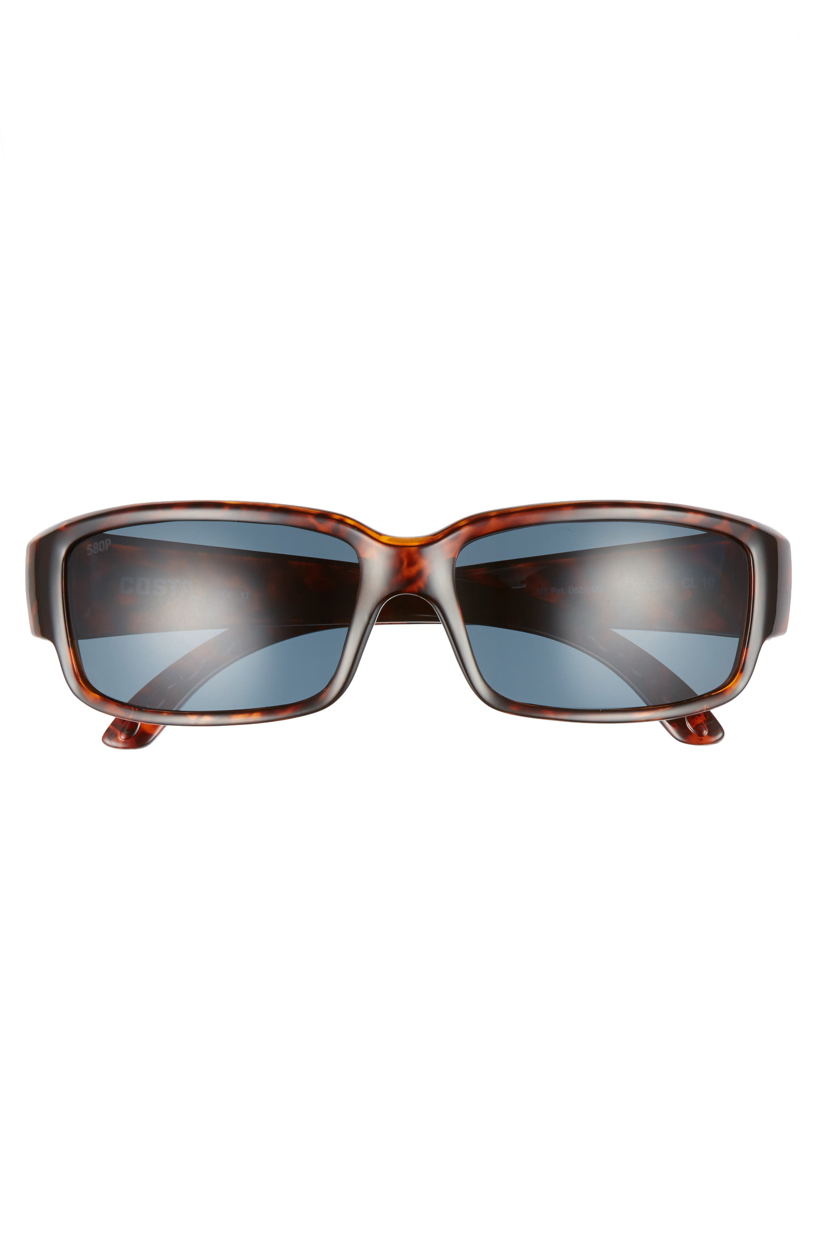 Caballito 60mm Polarized Sunglasses,                             Alternate thumbnail 2, color,                             Tortoise/ Grey
