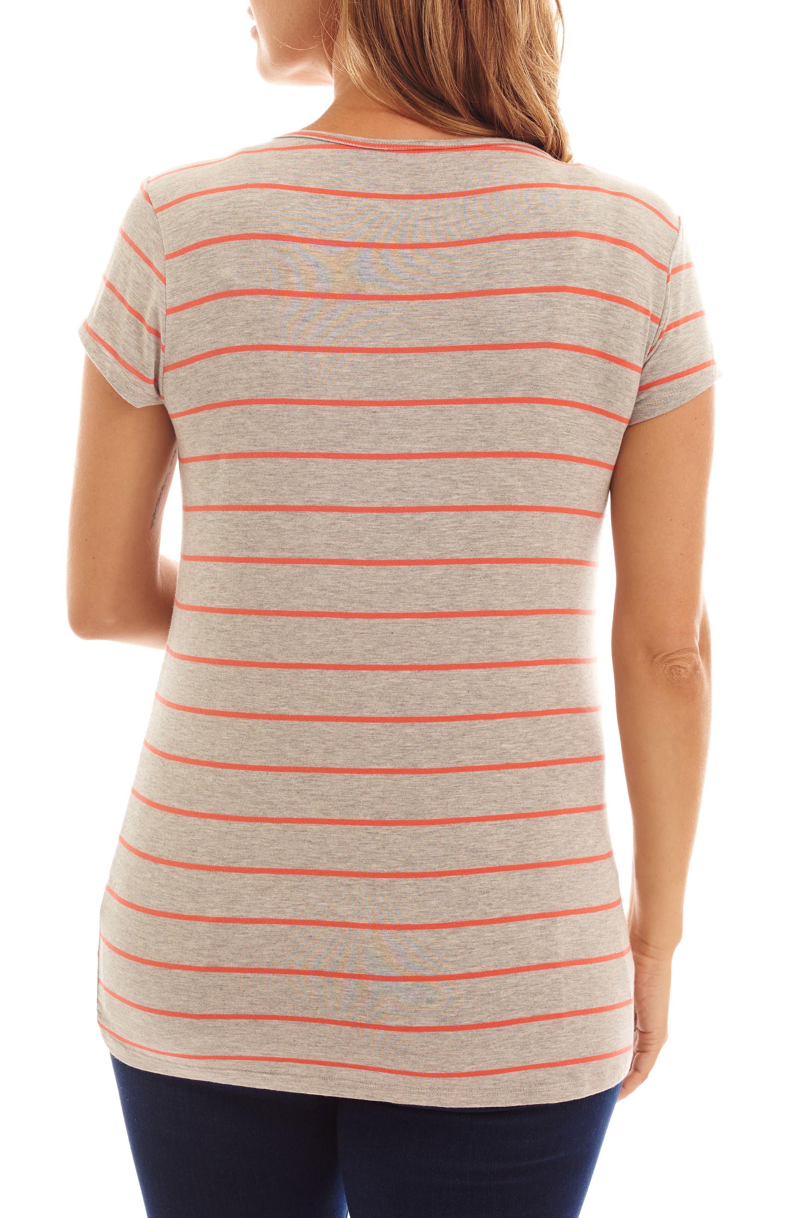 Alternate Image 2  - Everly Grey Jonelle Stripe Maternity/Nursing Top