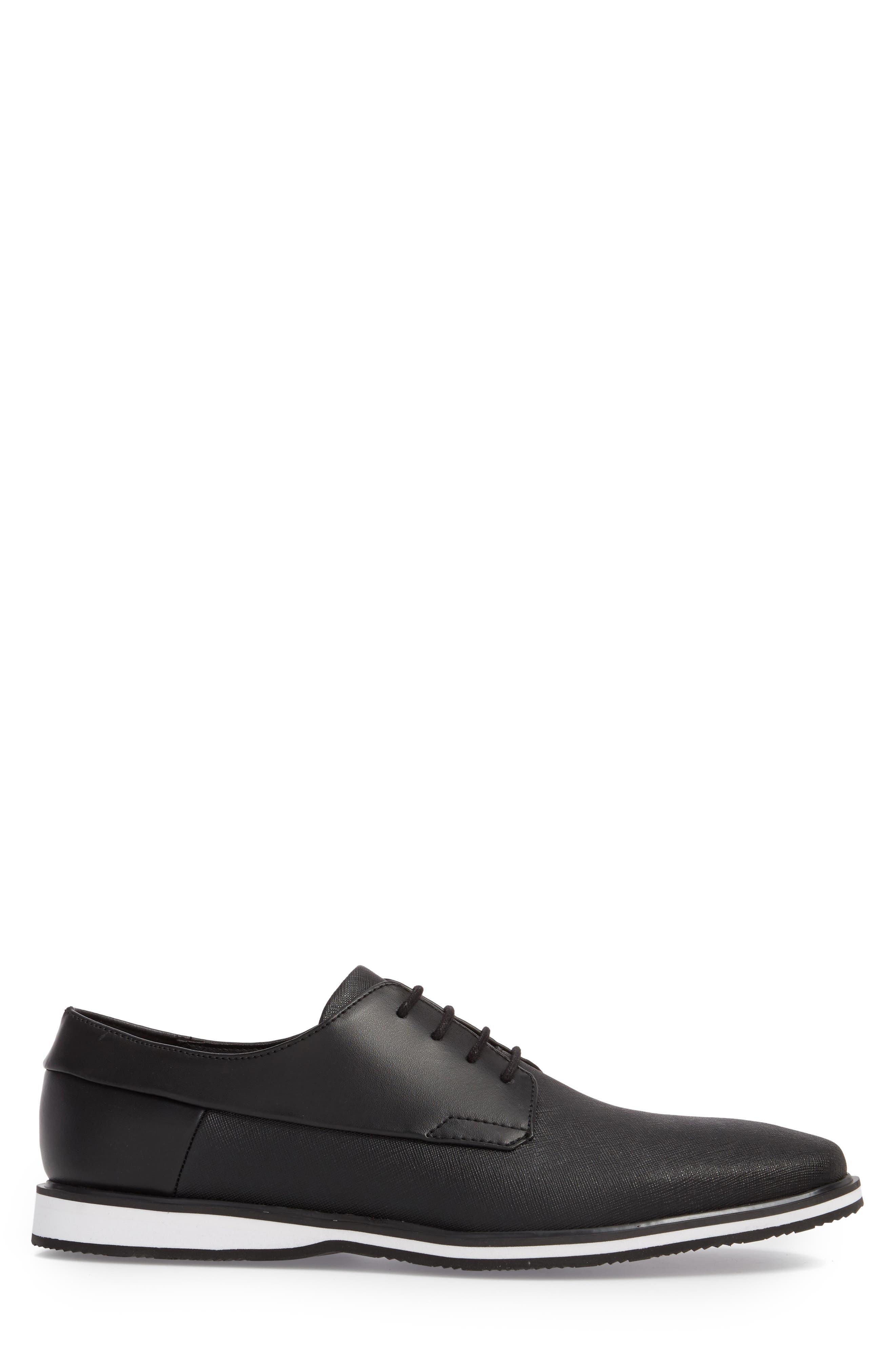 Wilfred Plain Toe Derby,                             Alternate thumbnail 3, color,                             Black