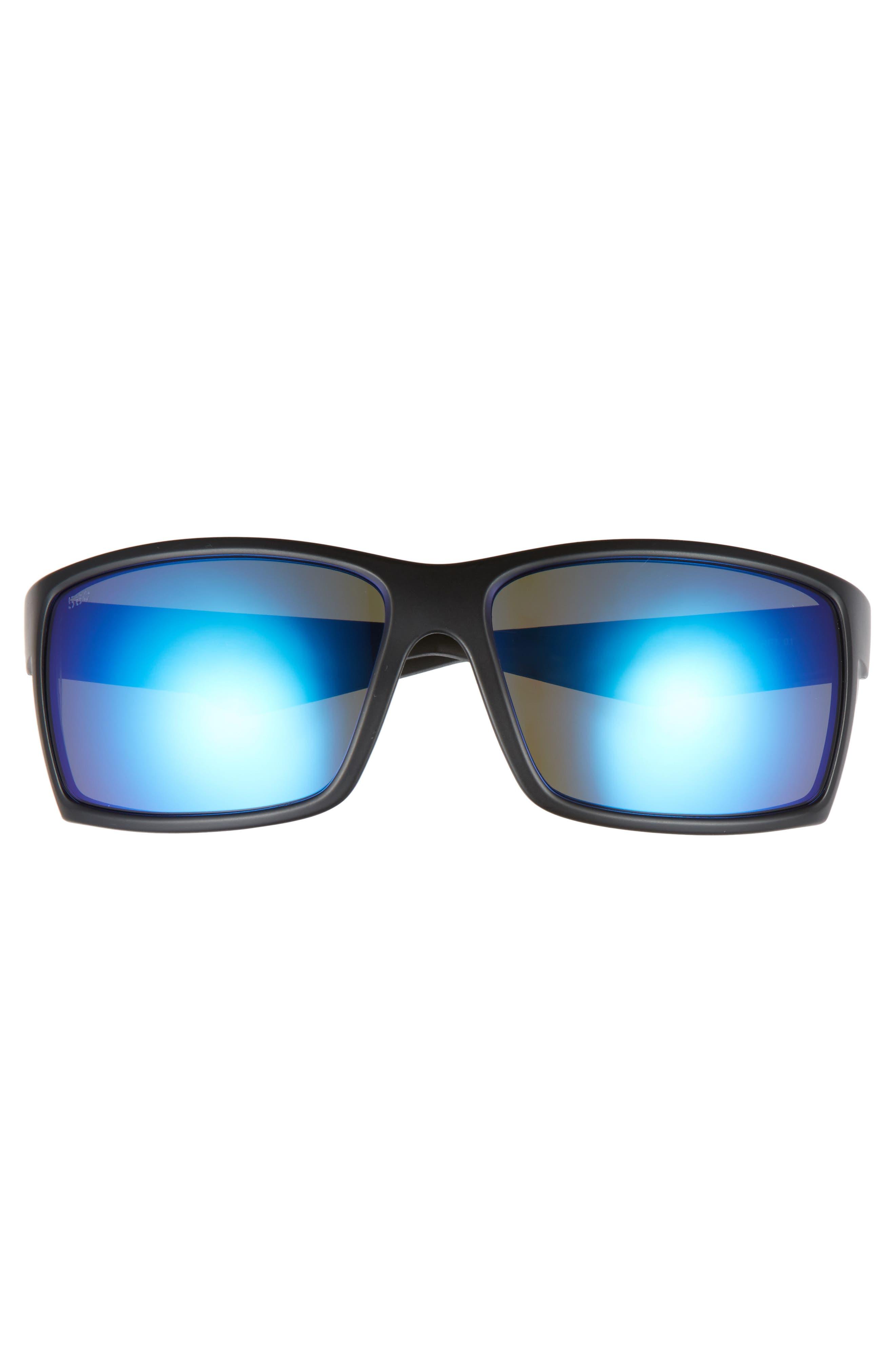 Reefton 65mm Polarized Sunglasses,                             Alternate thumbnail 2, color,                             Blackout/ Blue Mirror