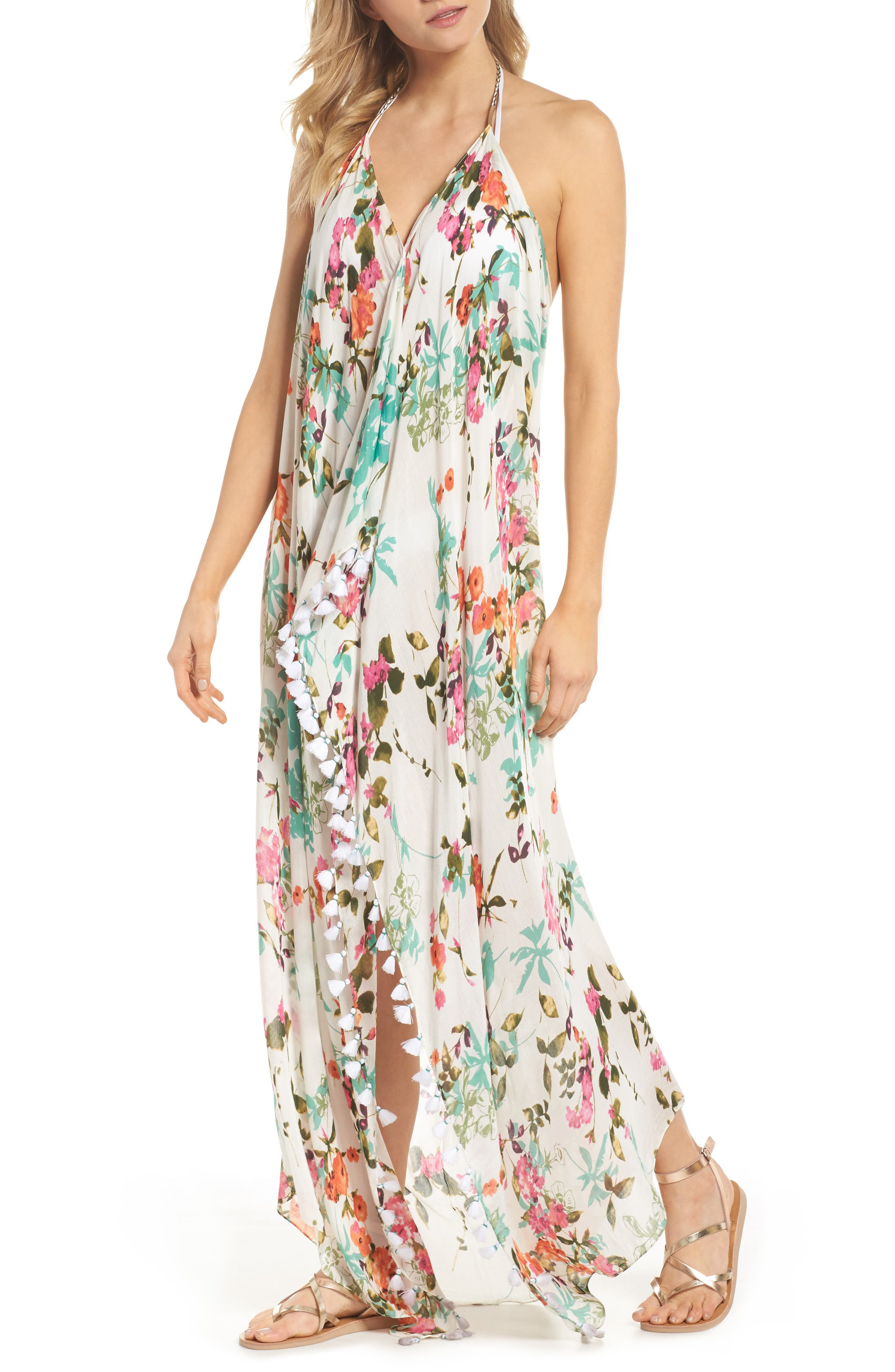 Beach to Street Cover-Up Dress,                             Main thumbnail 1, color,                             White