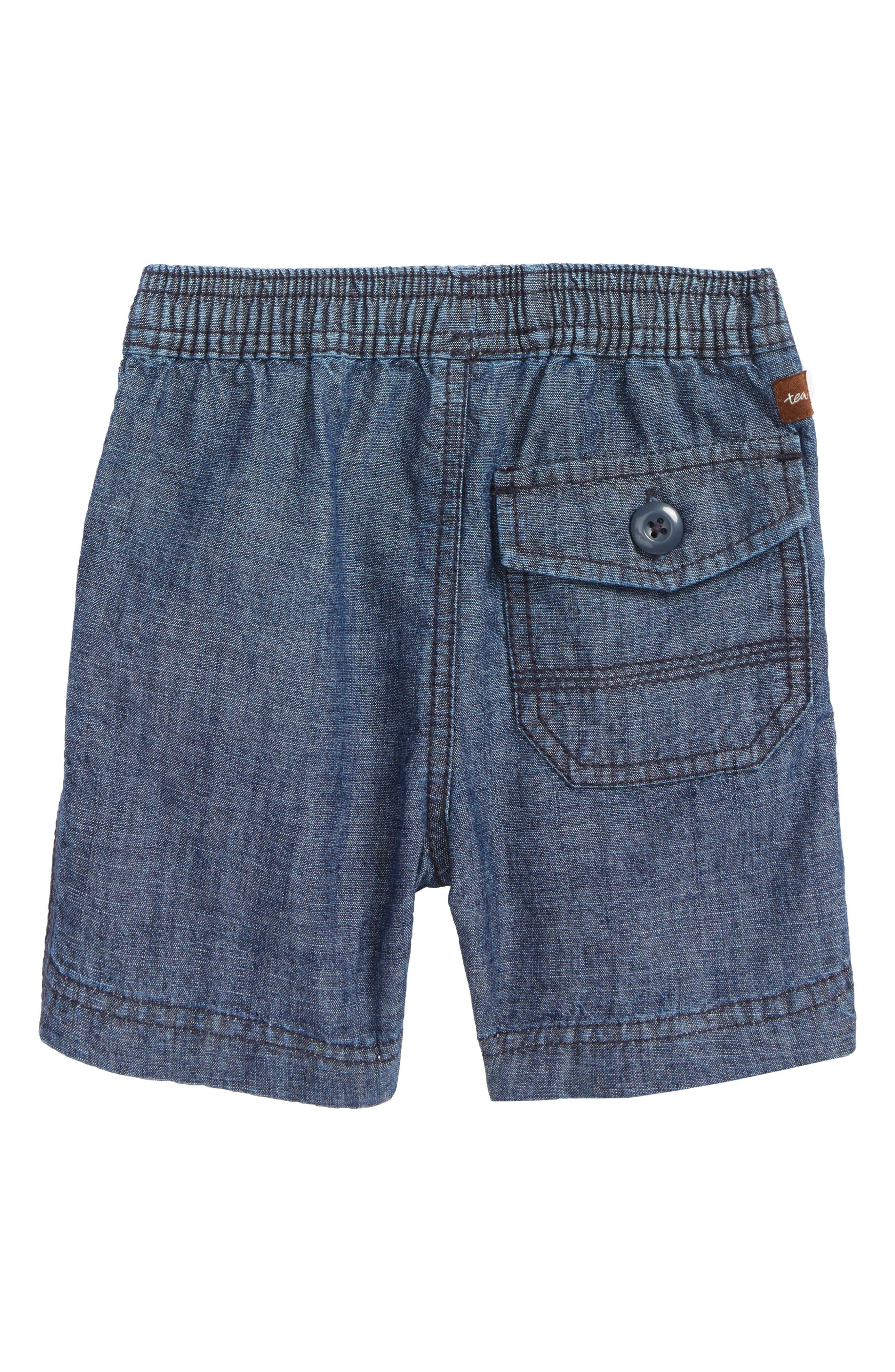 Easy Does It Chambray Shorts,                             Alternate thumbnail 2, color,                             Blue Chambray