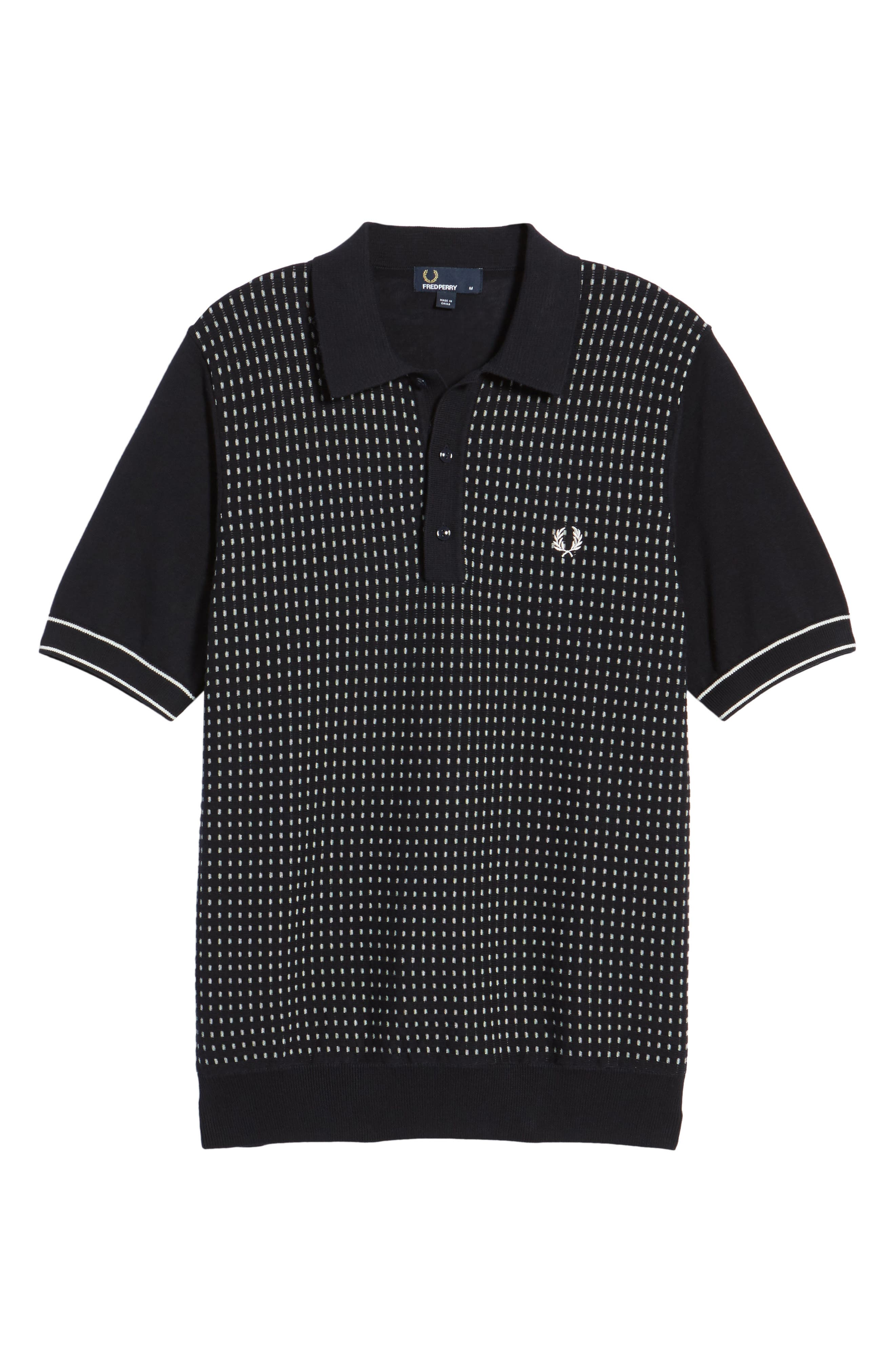 Alternate Image 6  - Fred Perry Jacquard Polo Shirt
