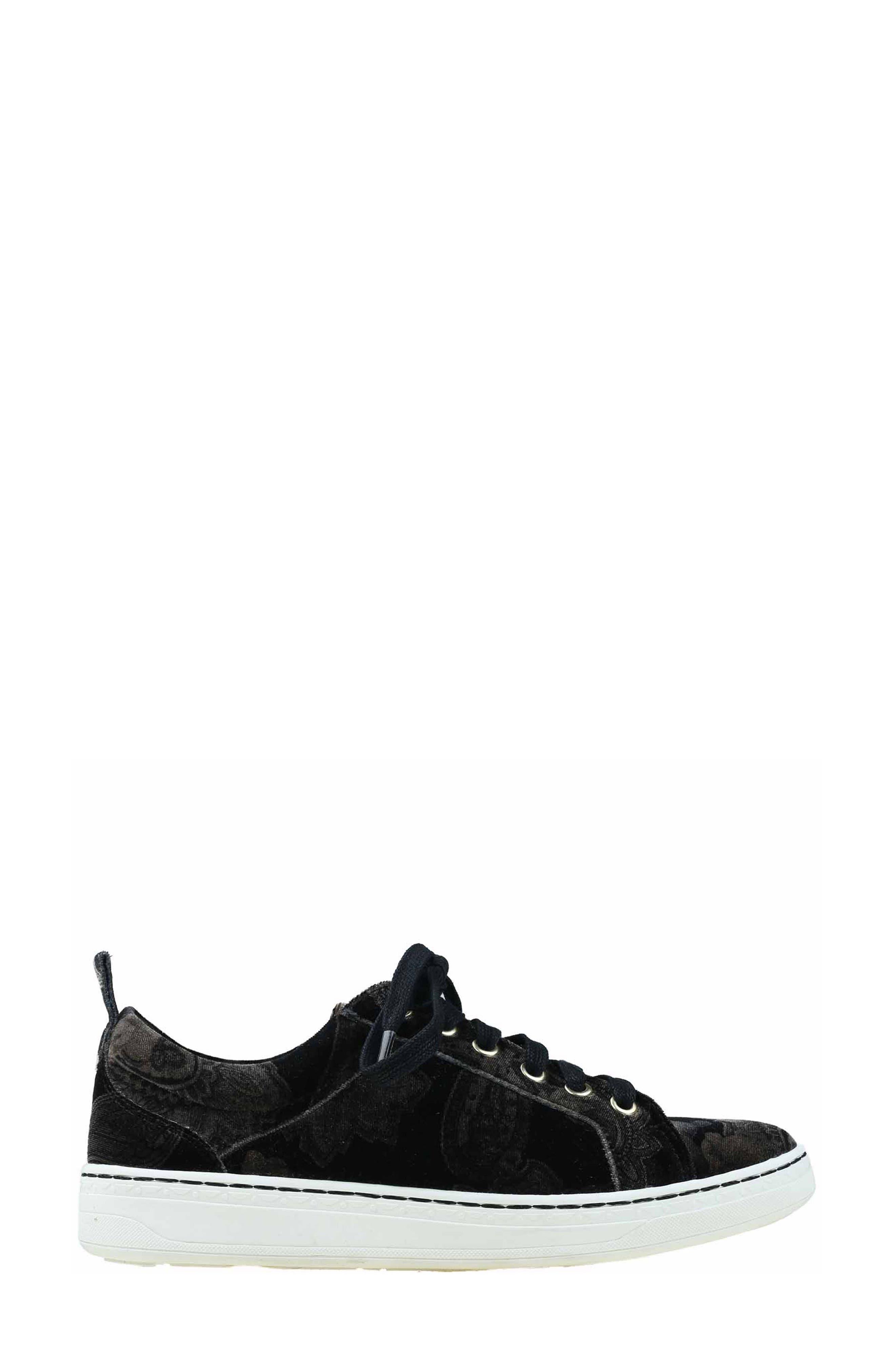 Zag Sneaker,                             Alternate thumbnail 4, color,                             Black Printed Velvet
