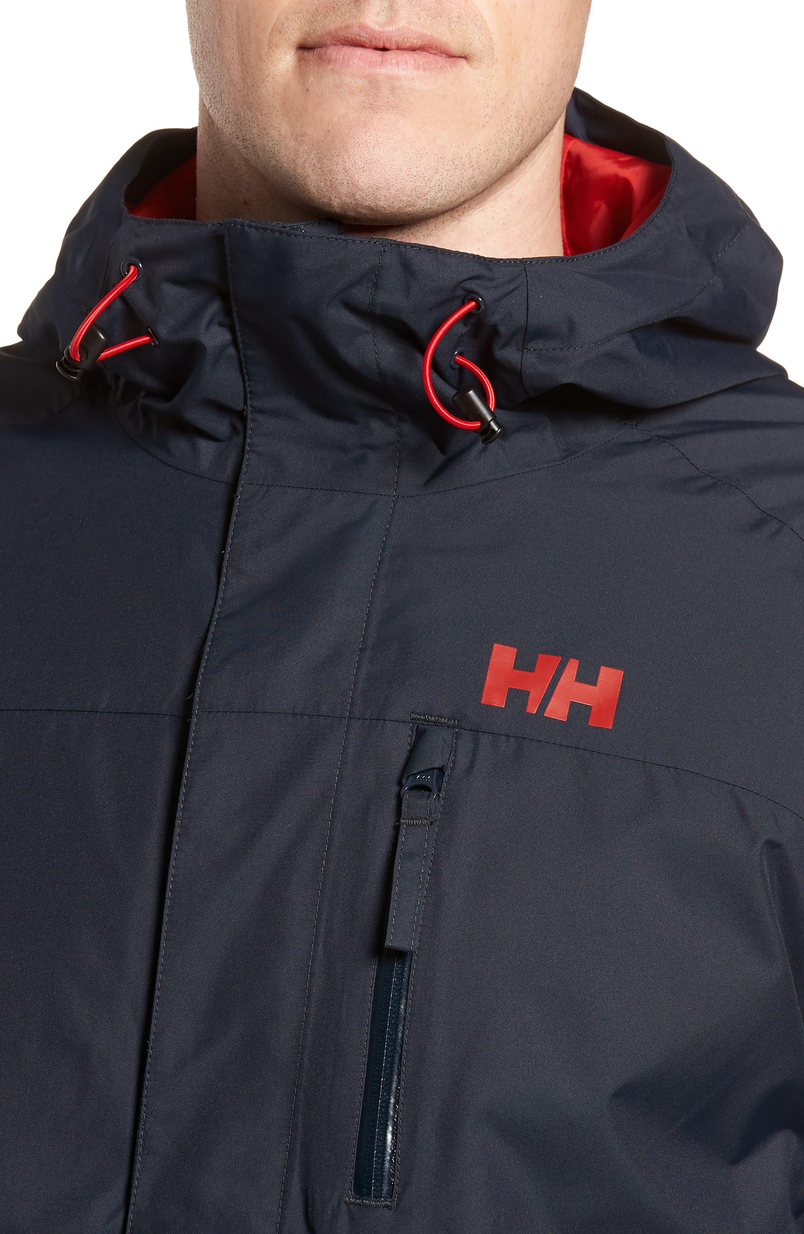 'Vancouver' Packable Rain Jacket,                             Alternate thumbnail 4, color,                             Navy/ Navy
