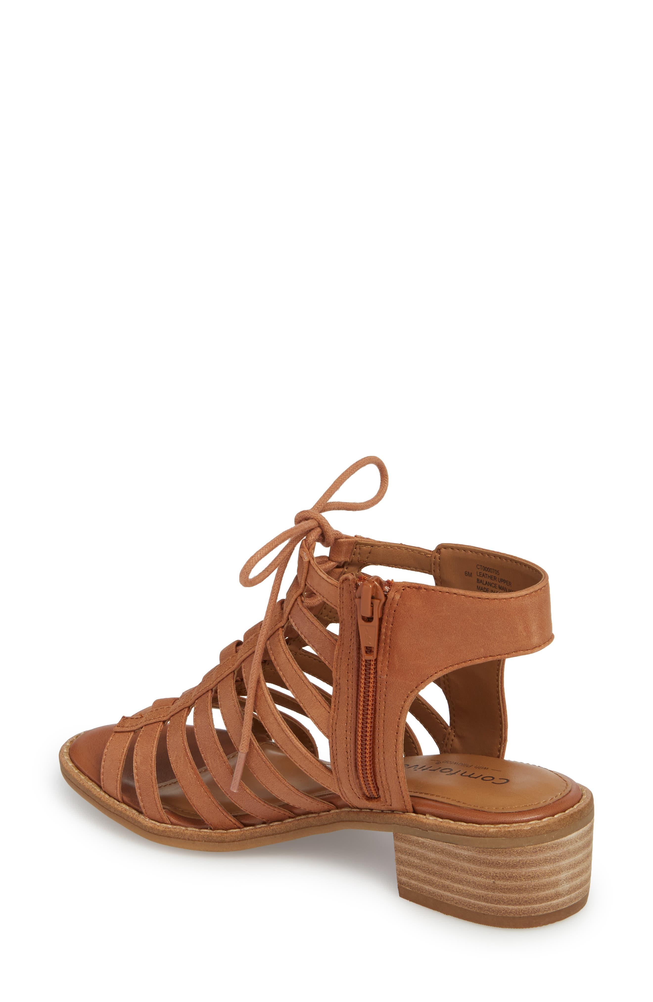 Blossom Sandal,                             Alternate thumbnail 2, color,                             Walnut Leather
