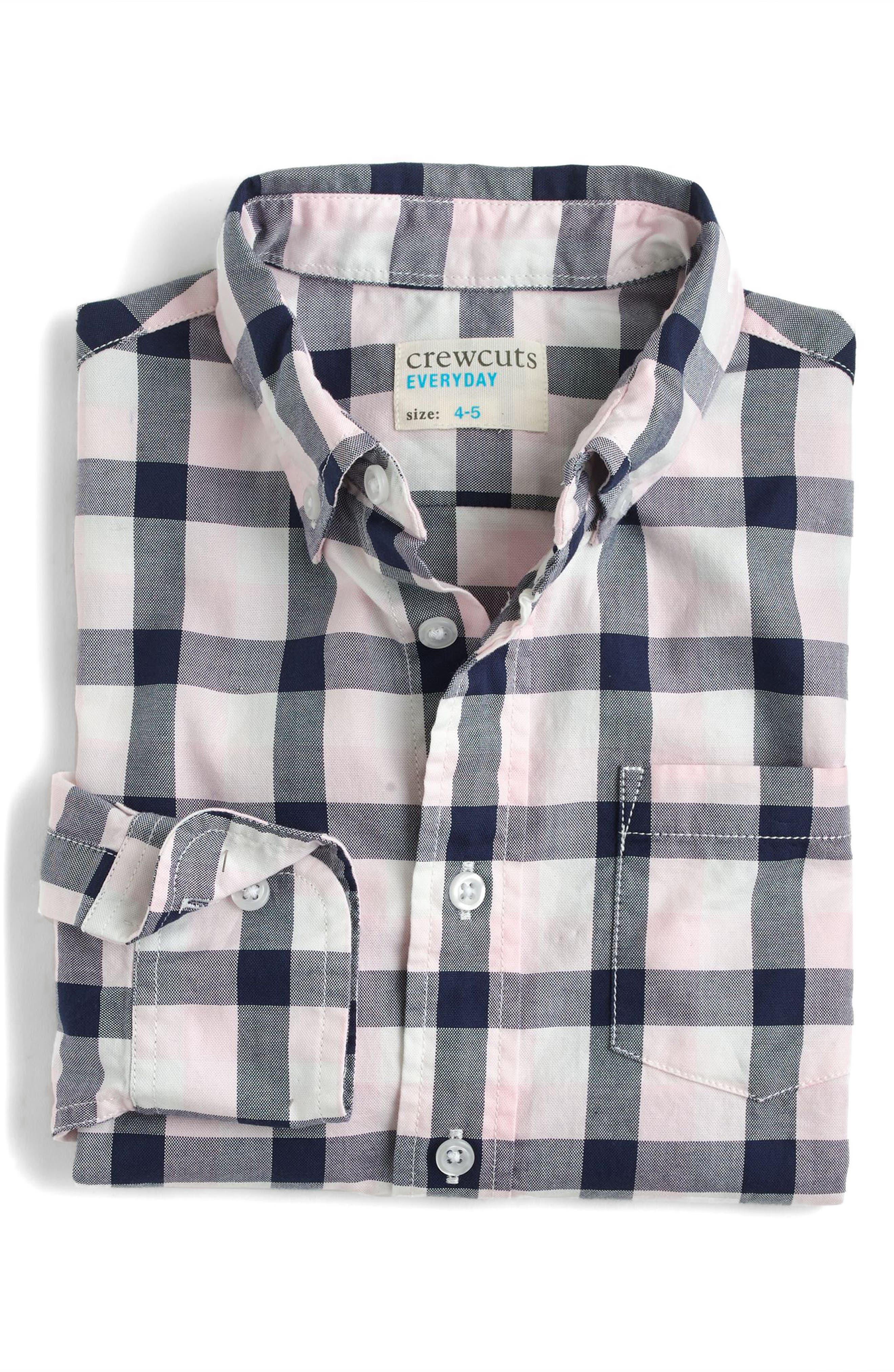 Taxali Check Woven Shirt,                             Main thumbnail 1, color,                             Pink Navy