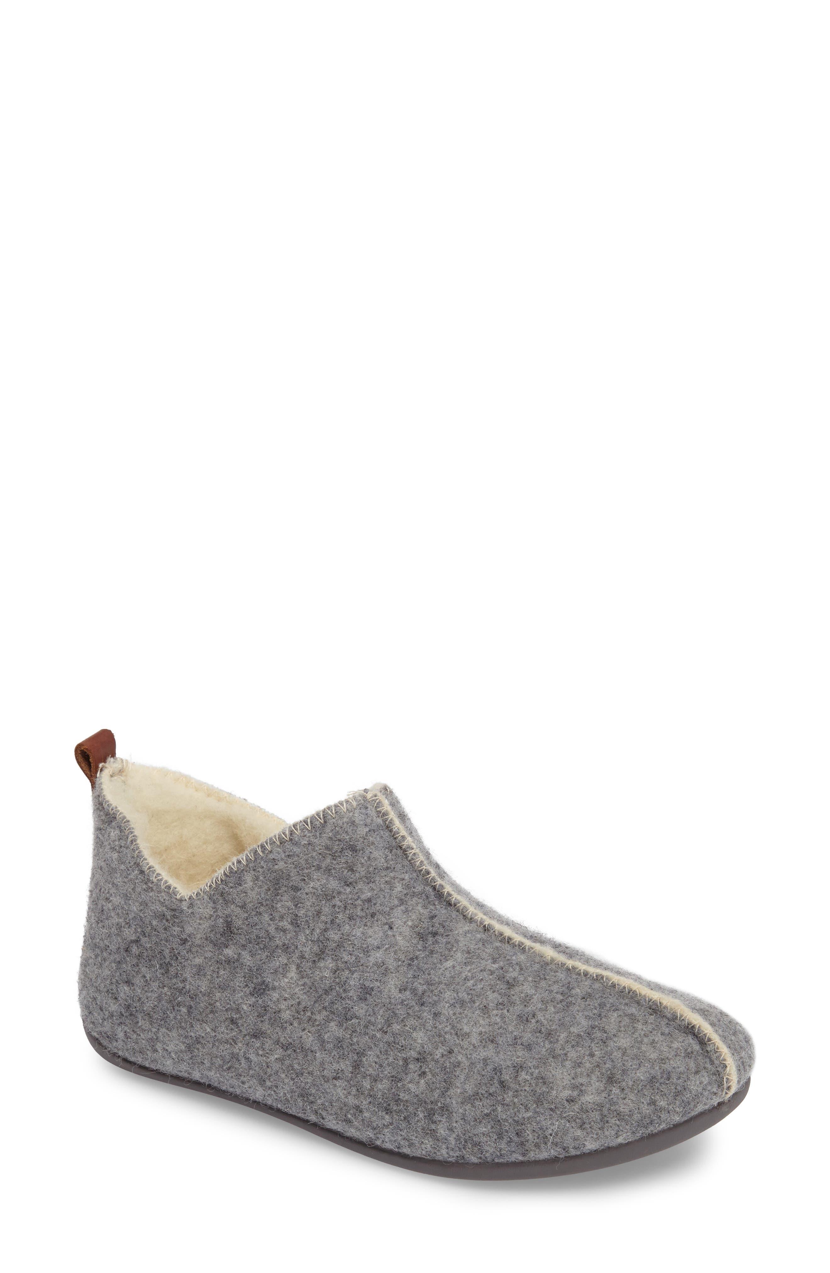 Lila Slipper,                         Main,                         color, Grey Fabric