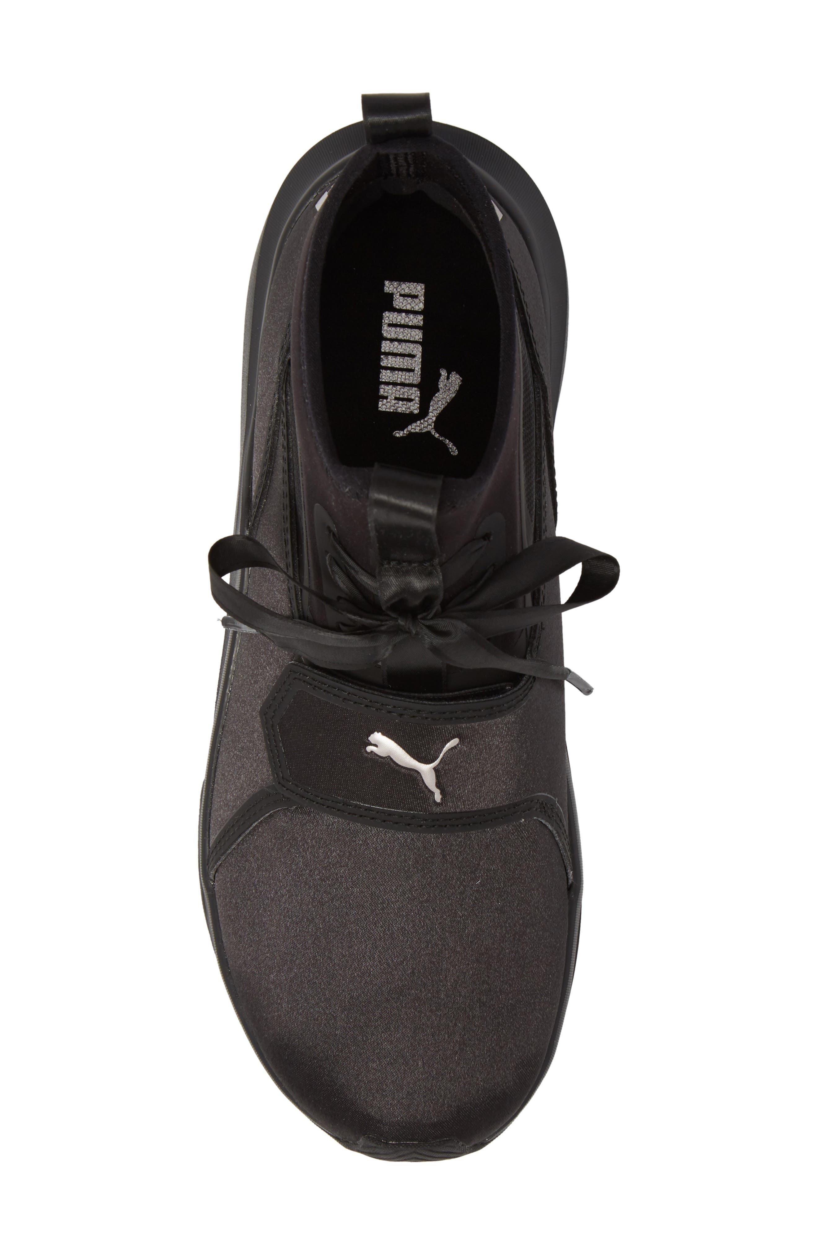 Phenom Satin EP High Top Training Shoe,                             Alternate thumbnail 5, color,                             Puma Black/ Puma Black