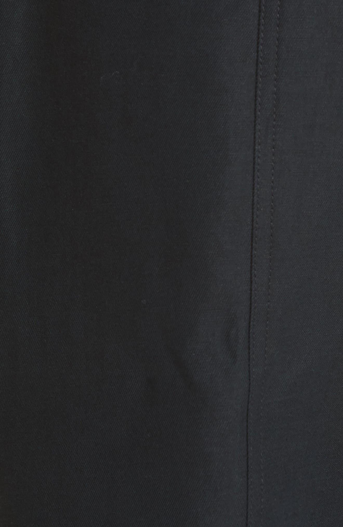 Jun Cotton & Linen Ankle Pants,                             Alternate thumbnail 5, color,                             Caviar