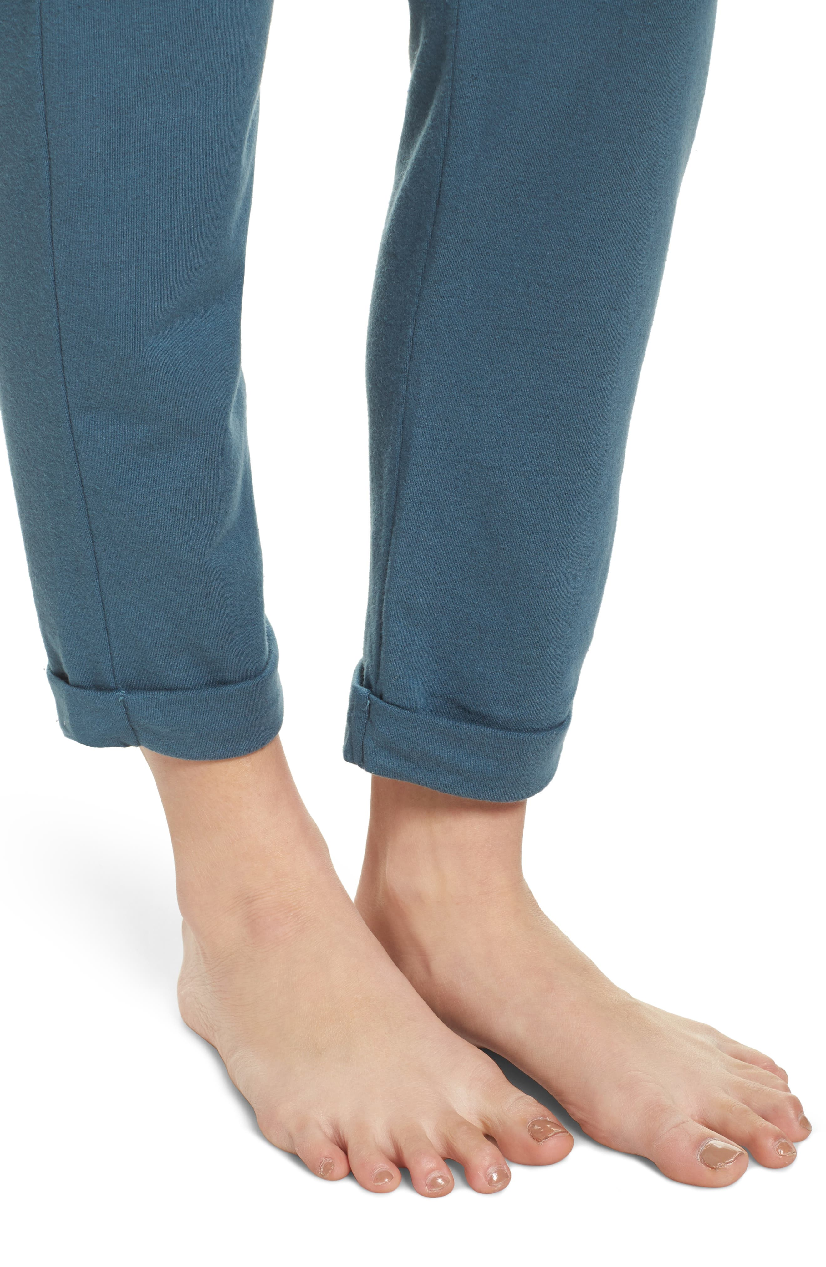 French Terry Sweatpants,                             Alternate thumbnail 5, color,                             Royal Teal