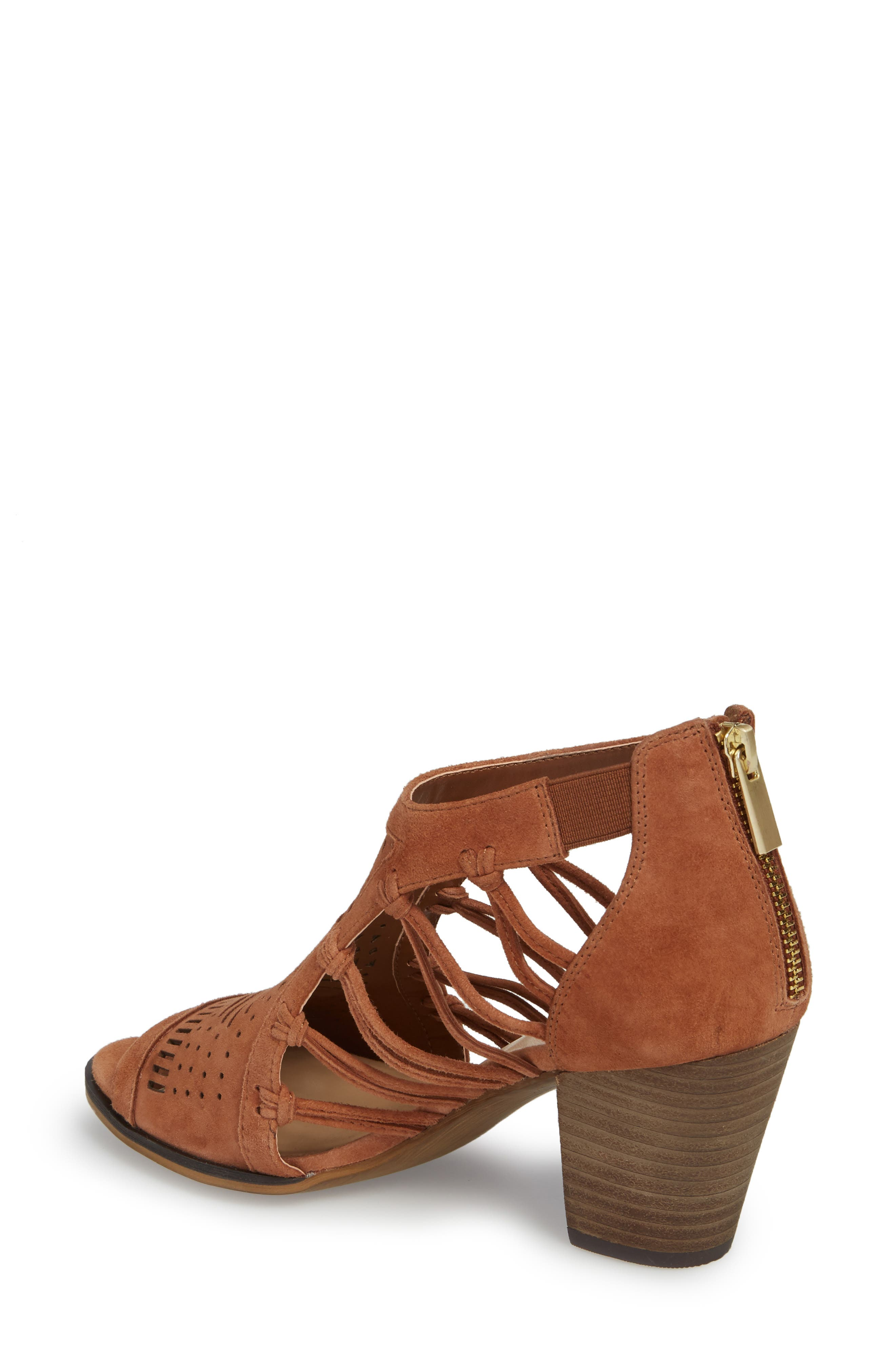 Kortez Block Heel Sandal,                             Alternate thumbnail 2, color,                             Dark Tan Suede