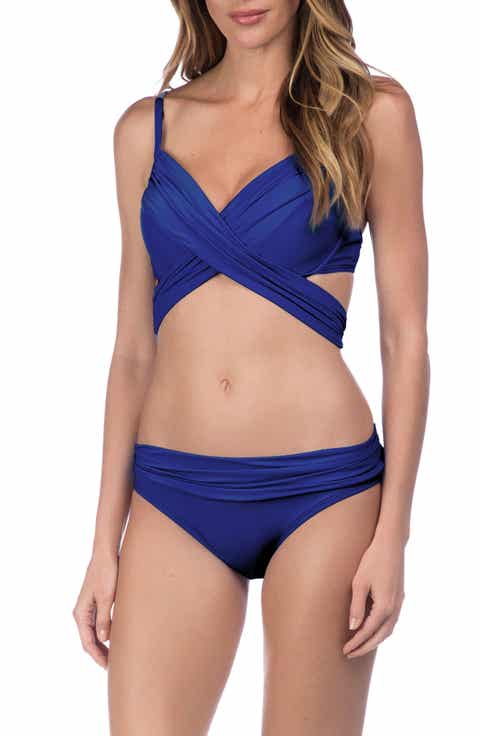 La Blanca Island Wrap Underwire Bikini Top