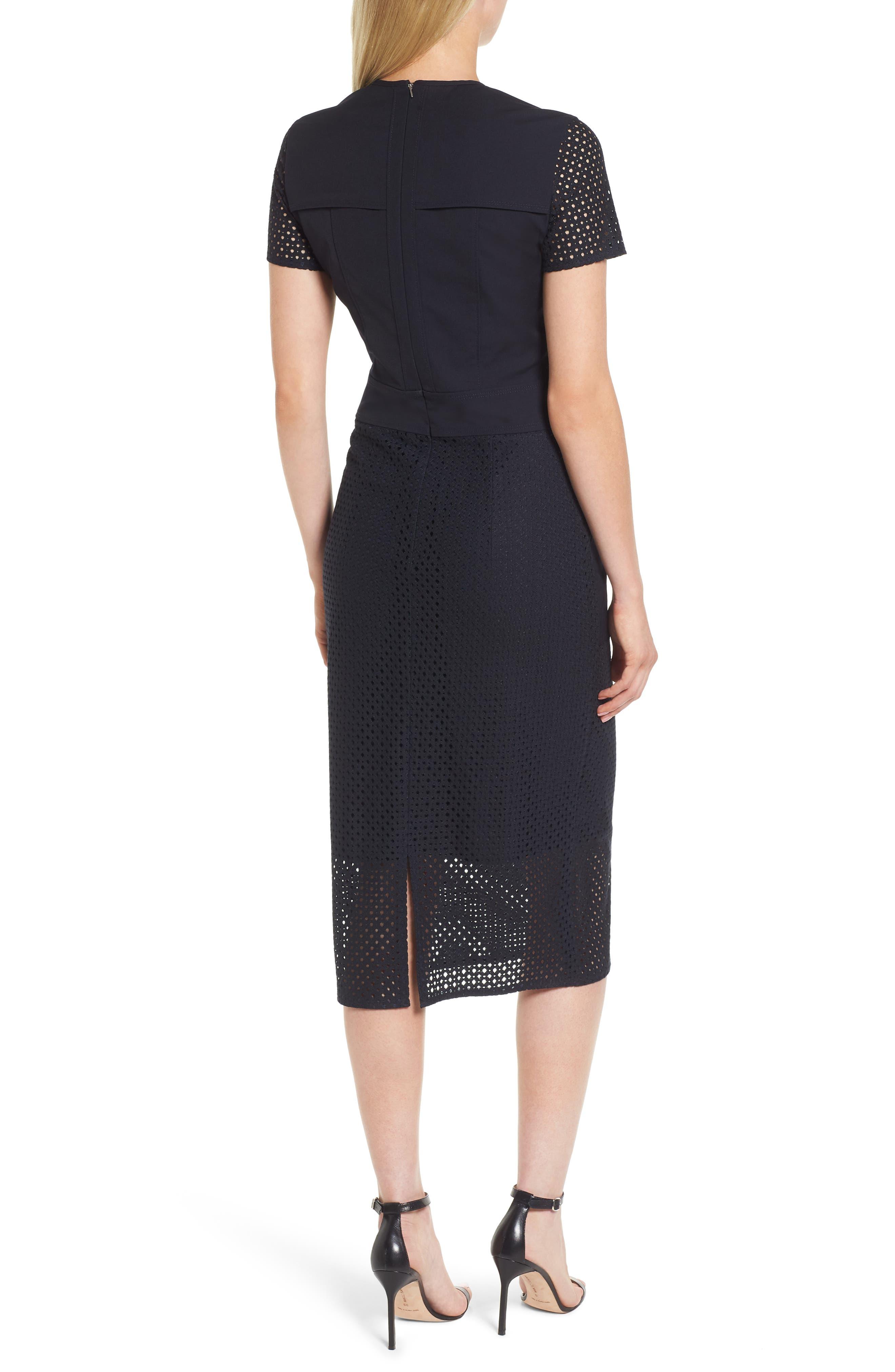 Damyla Sheath Dress,                             Alternate thumbnail 2, color,                             Navy