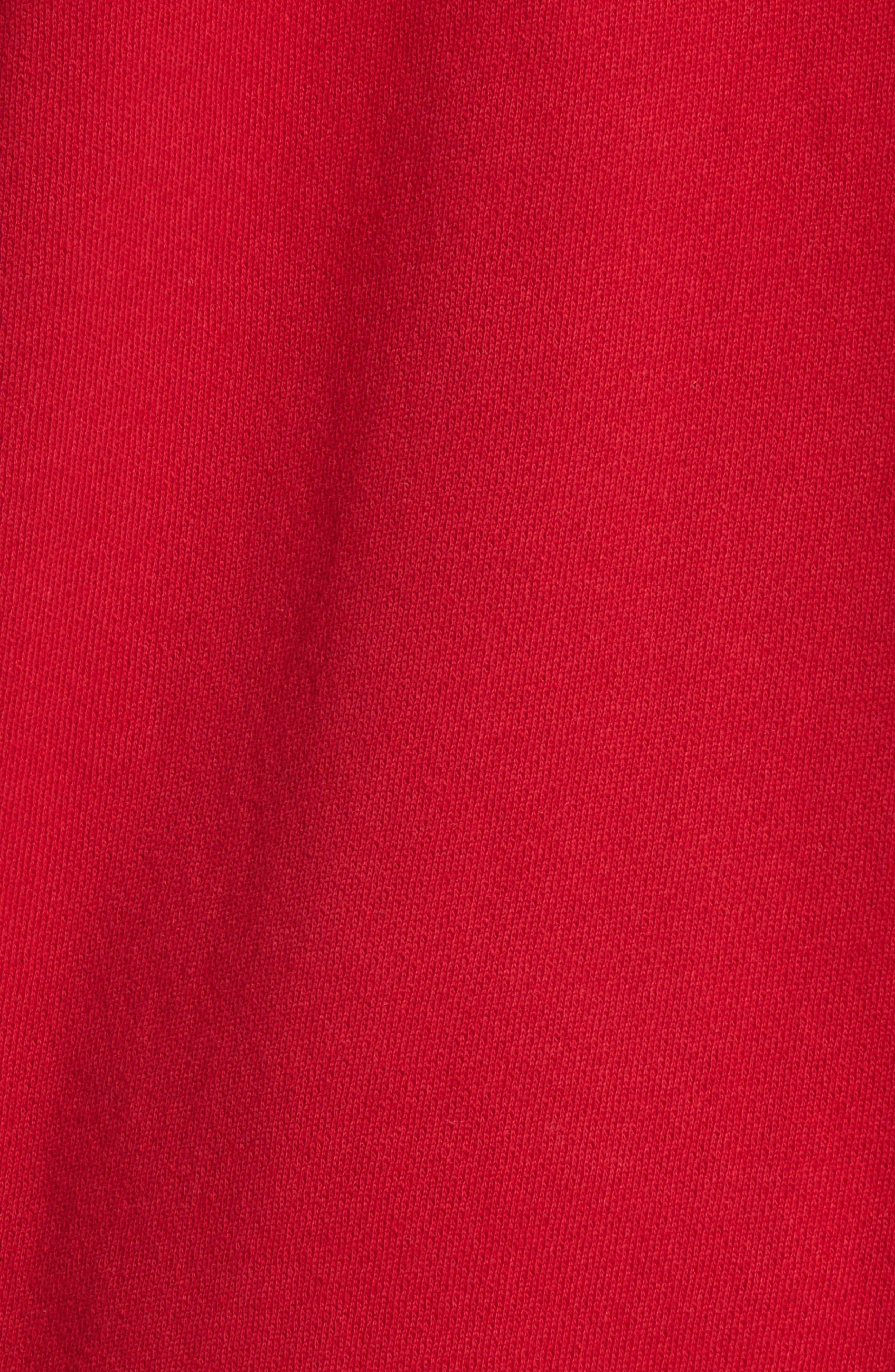 Adene Hooded Sweatshirt,                             Alternate thumbnail 5, color,                             Matador Red
