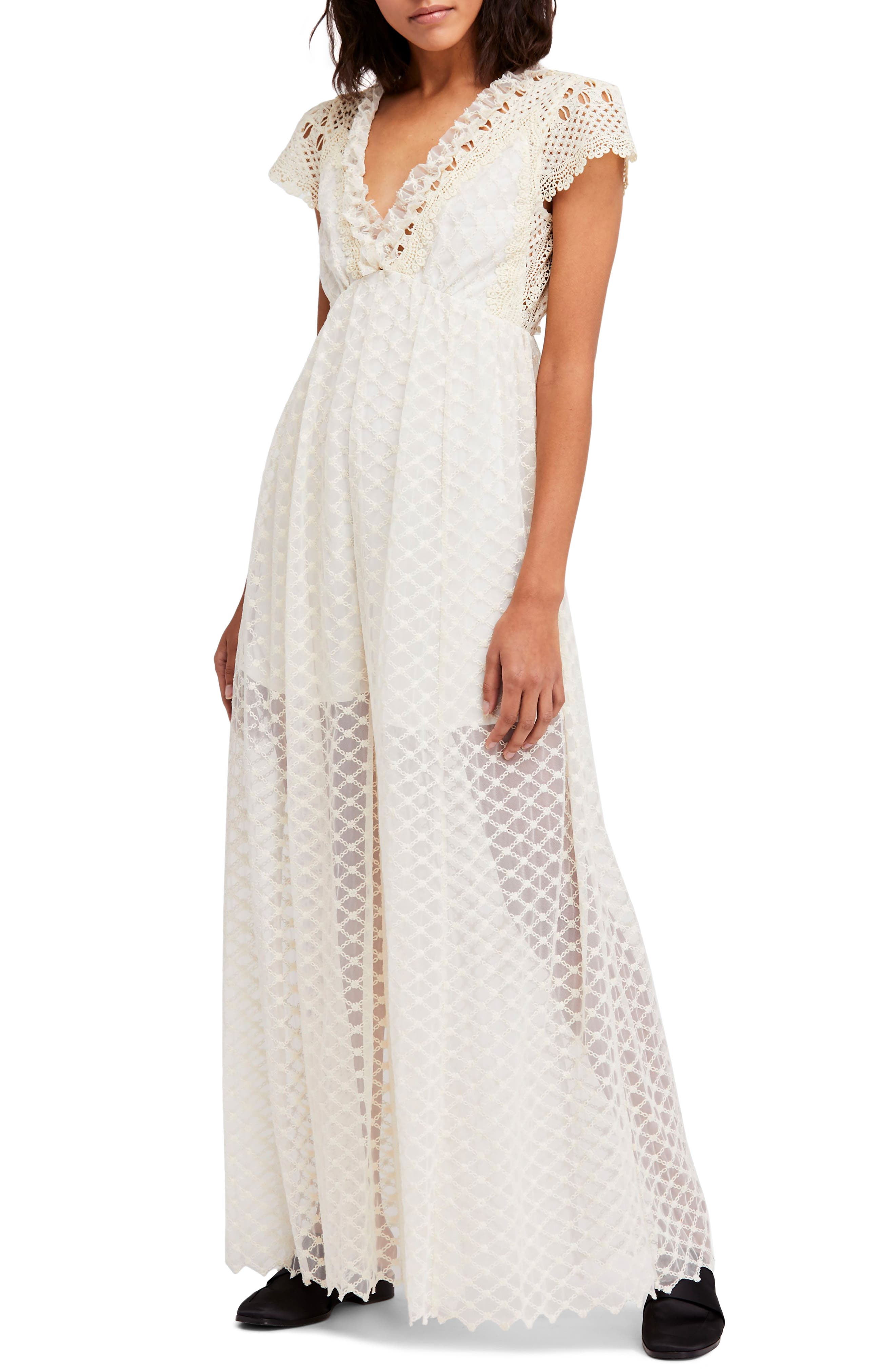 Chleo Embroidered Jumpsuit,                         Main,                         color, Cream