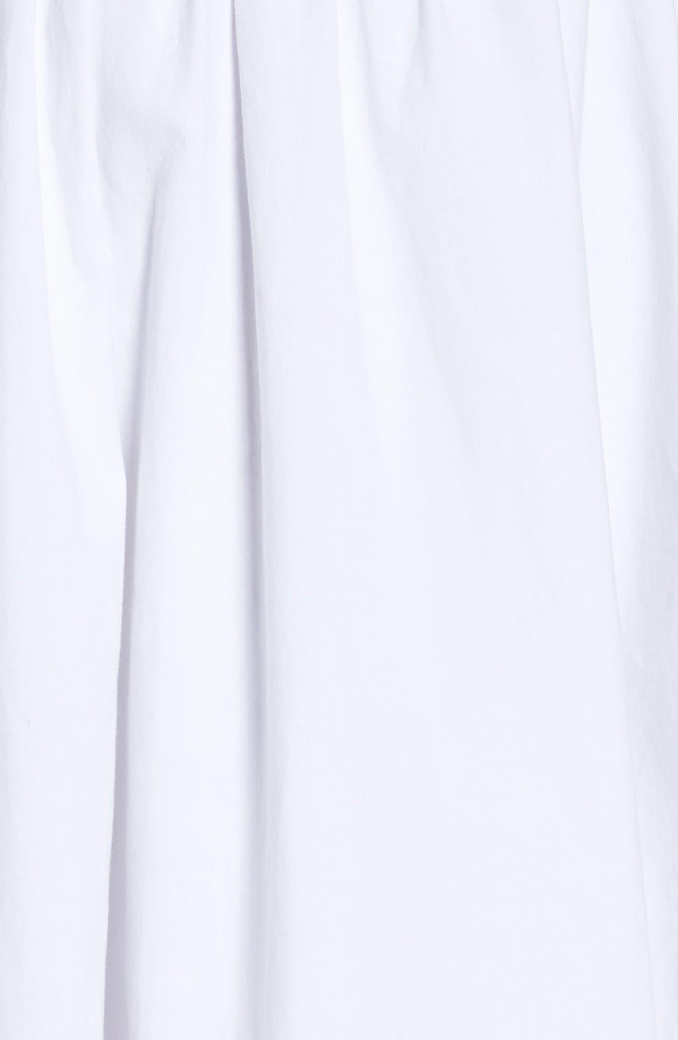 Lace Fit & Flare Dress,                             Alternate thumbnail 5, color,                             White Snow