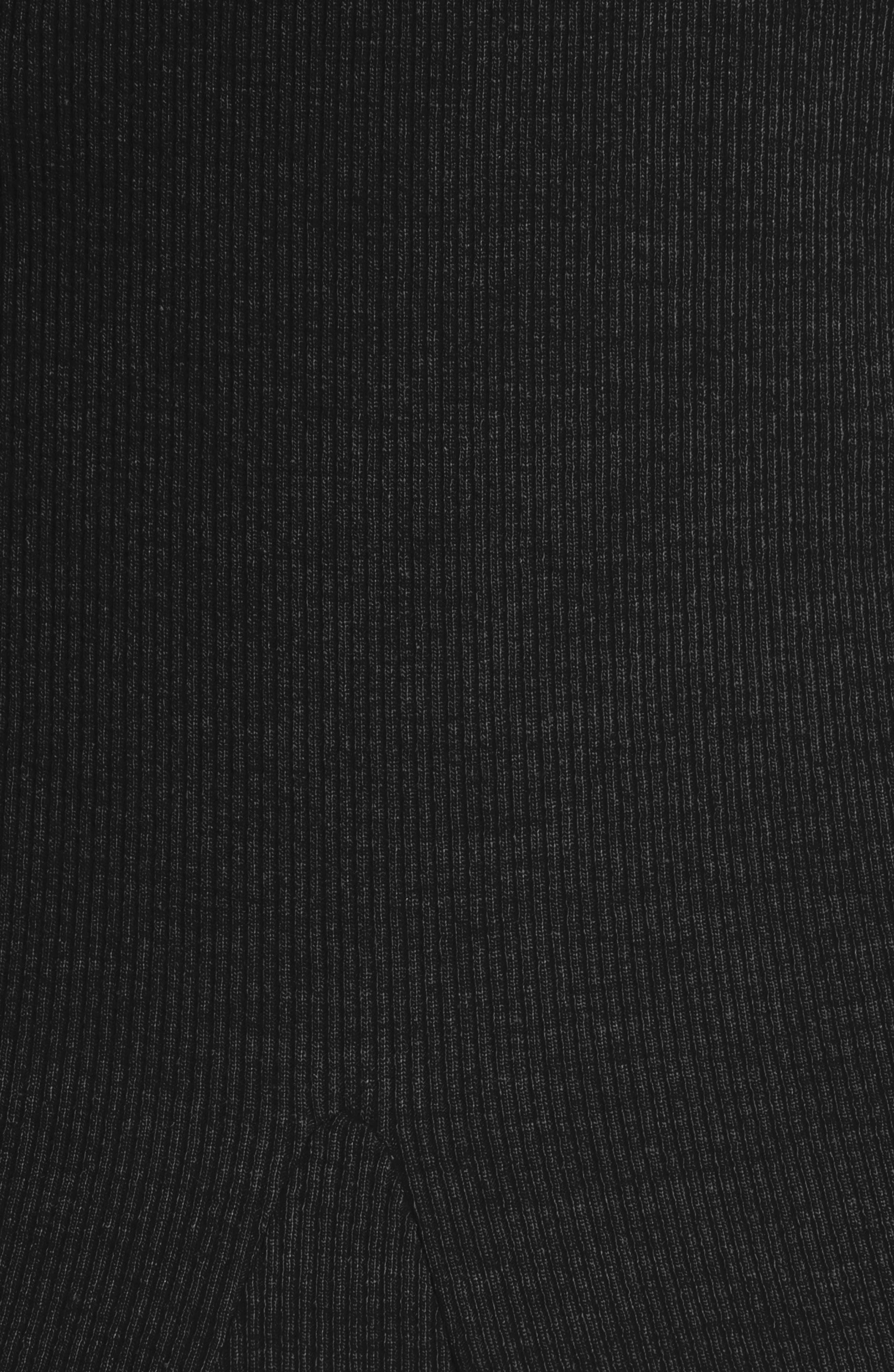 Dione One-Shoulder Dress,                             Alternate thumbnail 5, color,                             Black