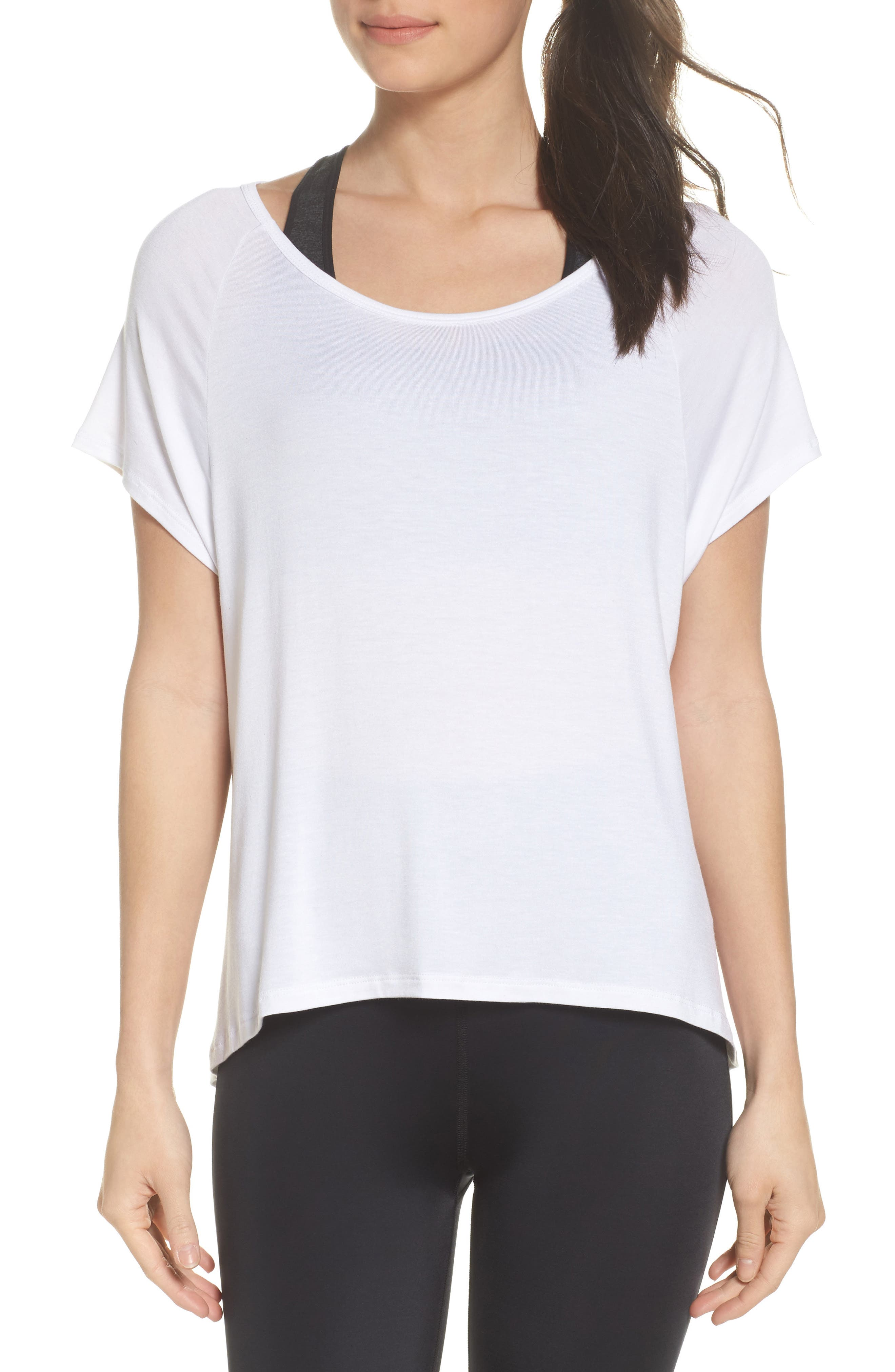 Slink Out Loud High/Low Tee,                             Main thumbnail 1, color,                             White