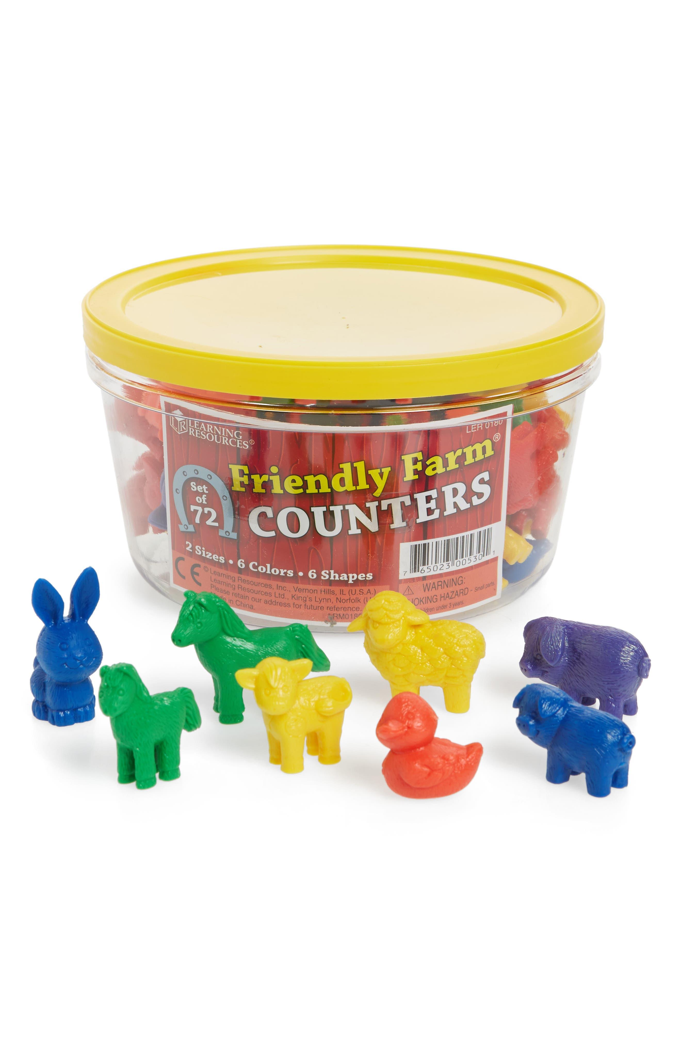 72-Piece Friendly Farm Counters Play Set,                             Main thumbnail 1, color,                             Brown