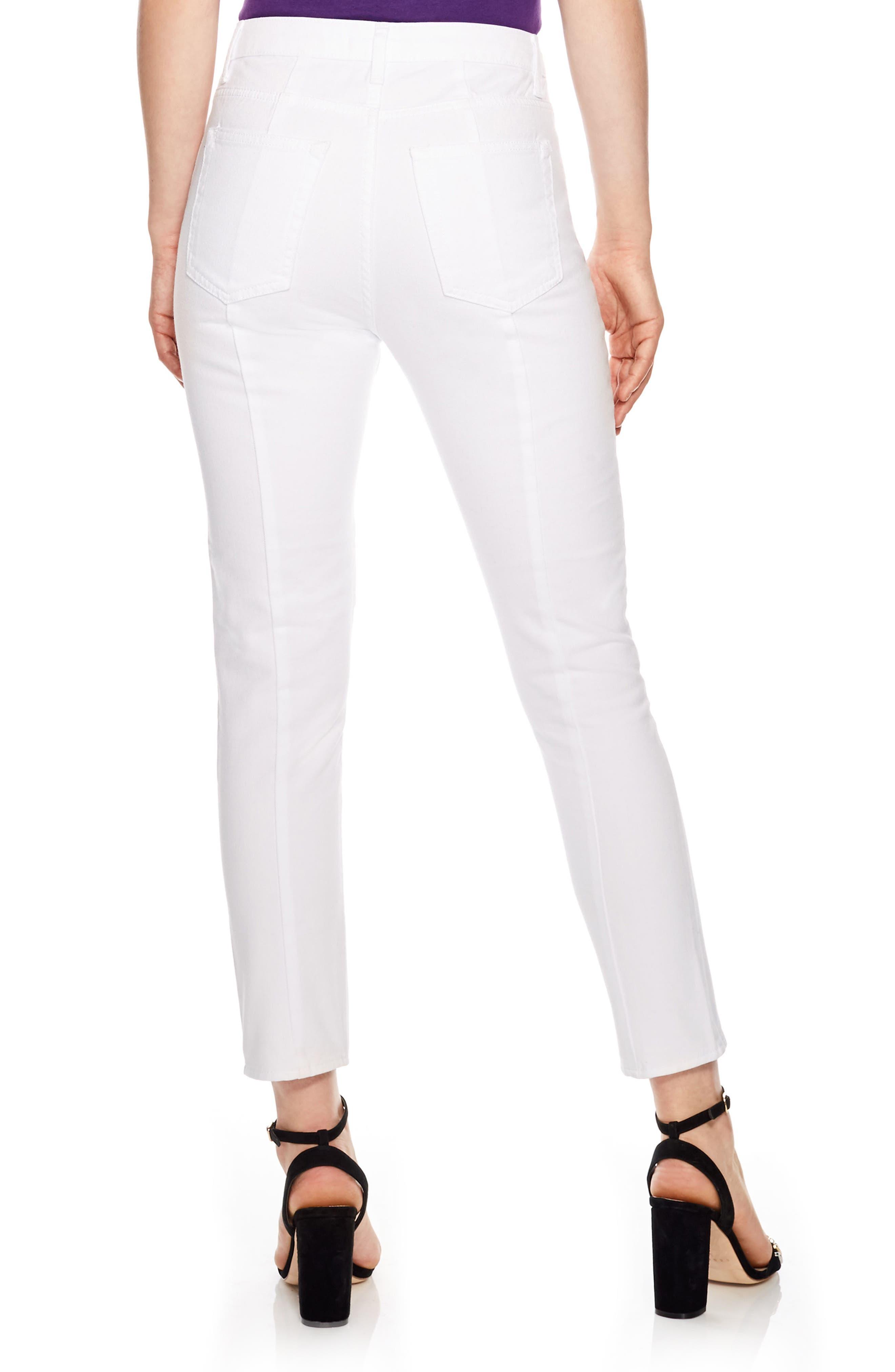 Blanc White Zip Jeans,                             Alternate thumbnail 2, color,                             White