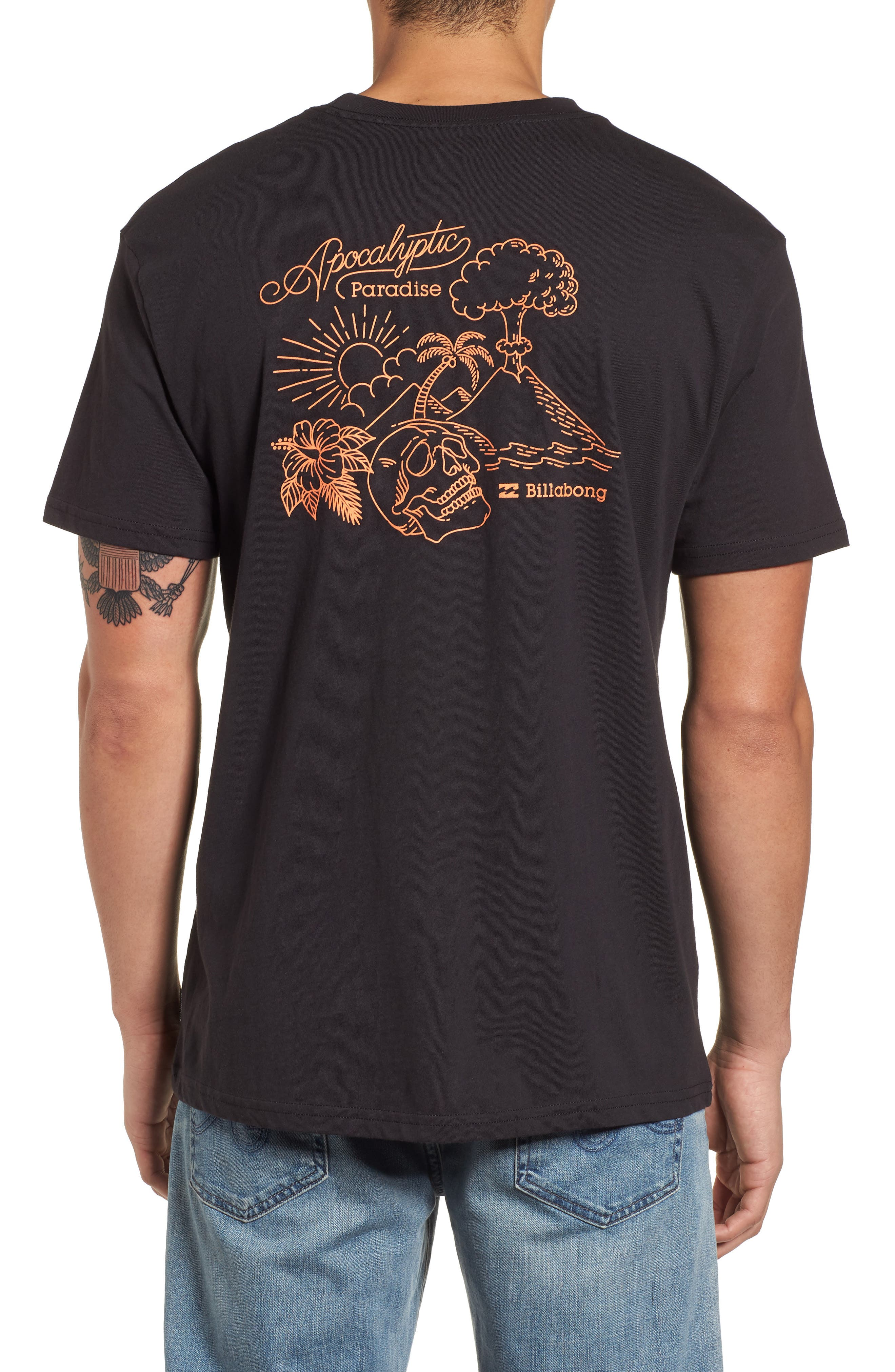 Apocalyptic Graphic T-Shirt,                             Alternate thumbnail 2, color,                             Black