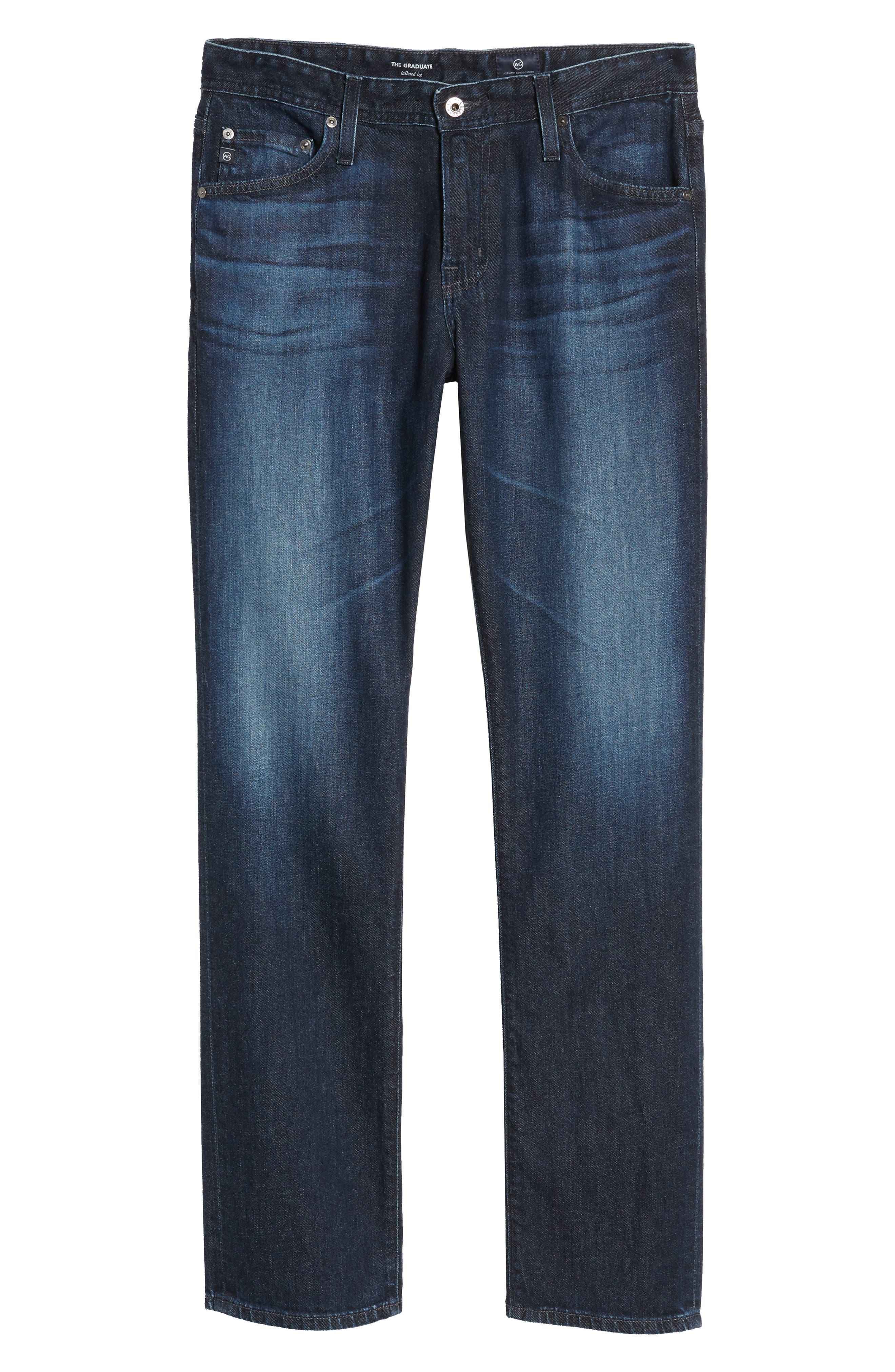 Graduate Slim Straight Leg Jeans,                             Alternate thumbnail 6, color,                             Stafford