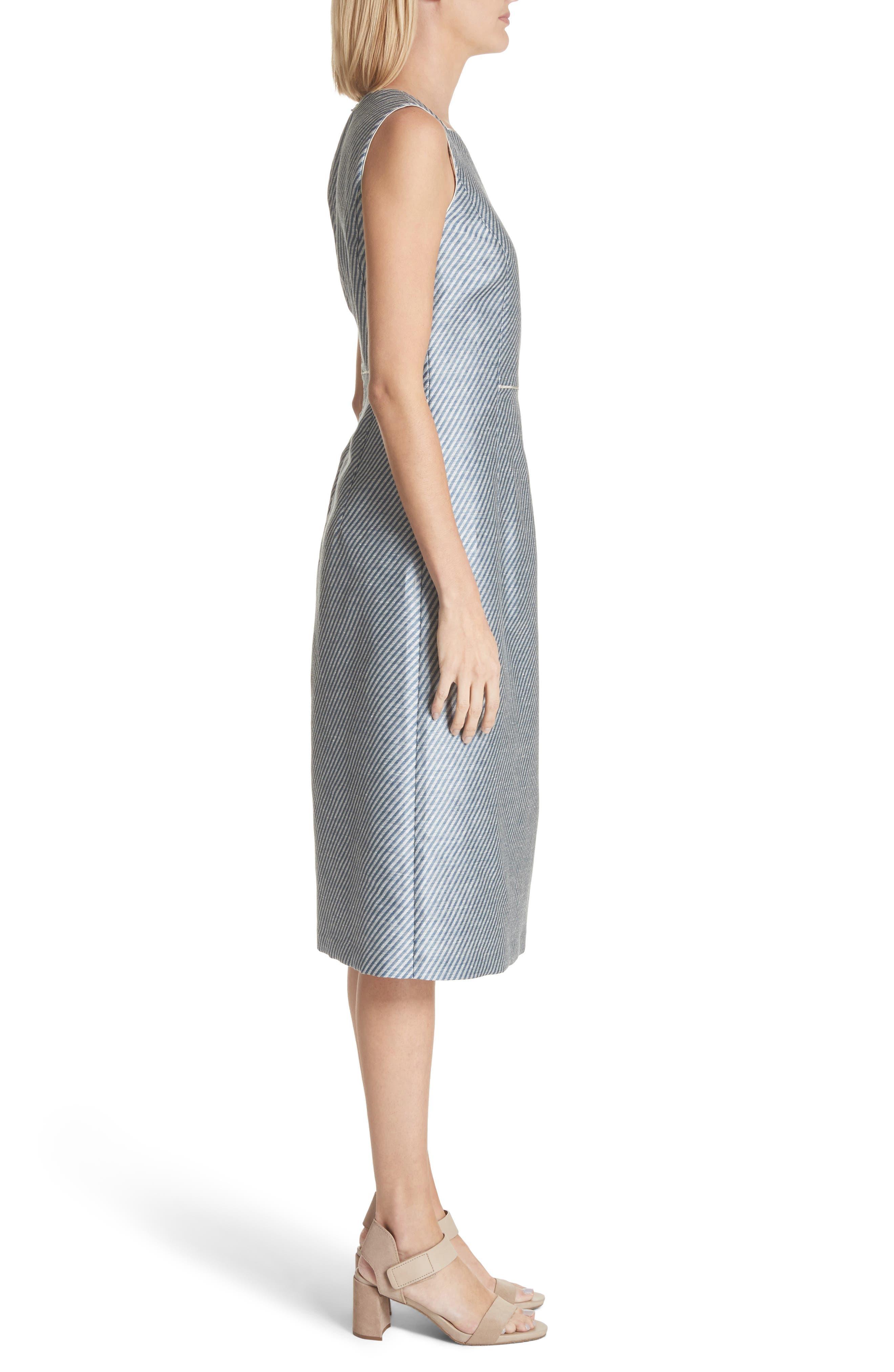 Jojo Sheath Dress,                             Alternate thumbnail 3, color,                             Glaze Blue Multi