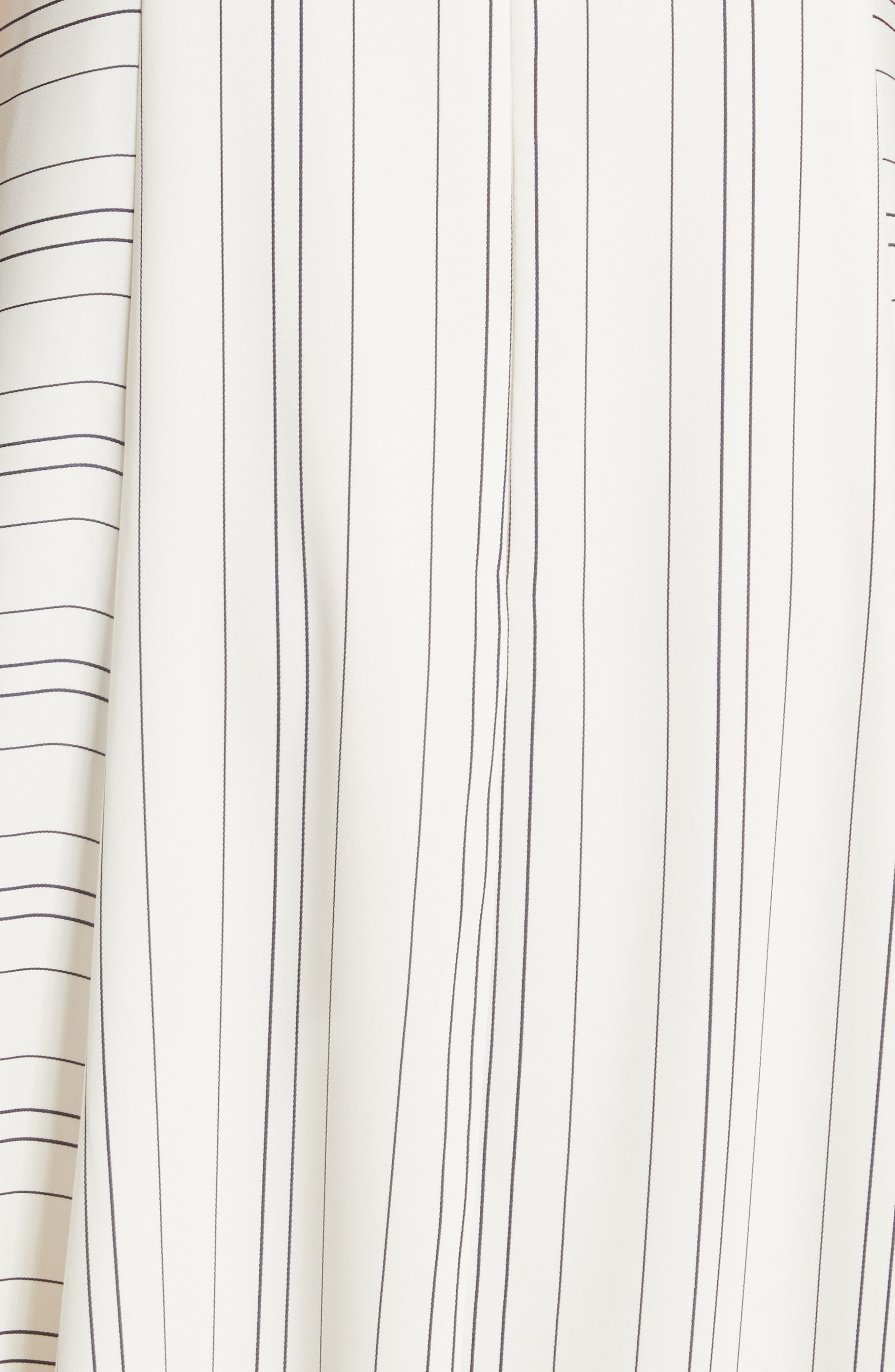 Prose & Poetry Skylar Flare Midi Dress,                             Alternate thumbnail 5, color,                             Light Ecru