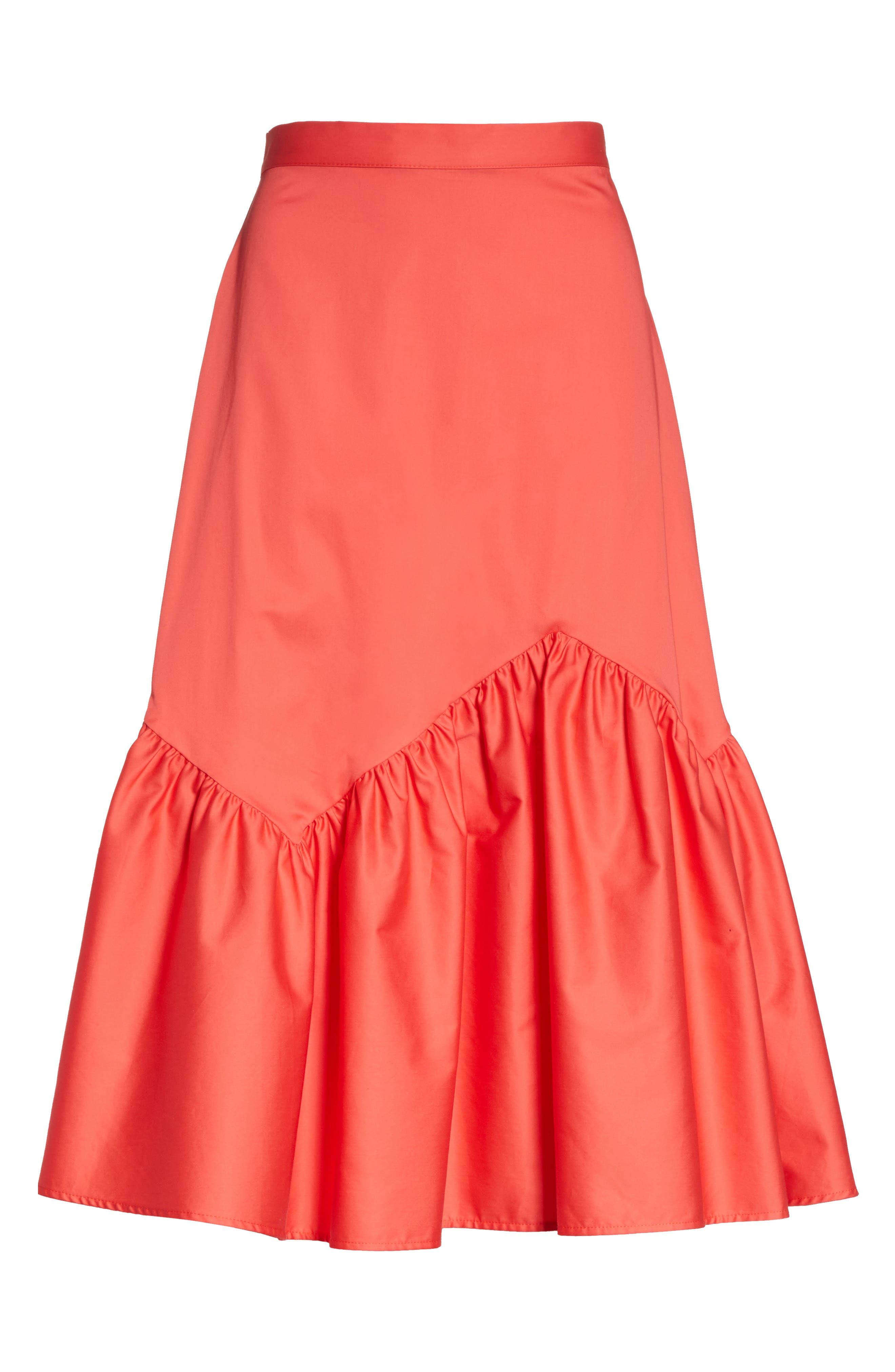 Prose & Poetry Tyra Midi Skirt,                             Alternate thumbnail 6, color,                             Watermelon